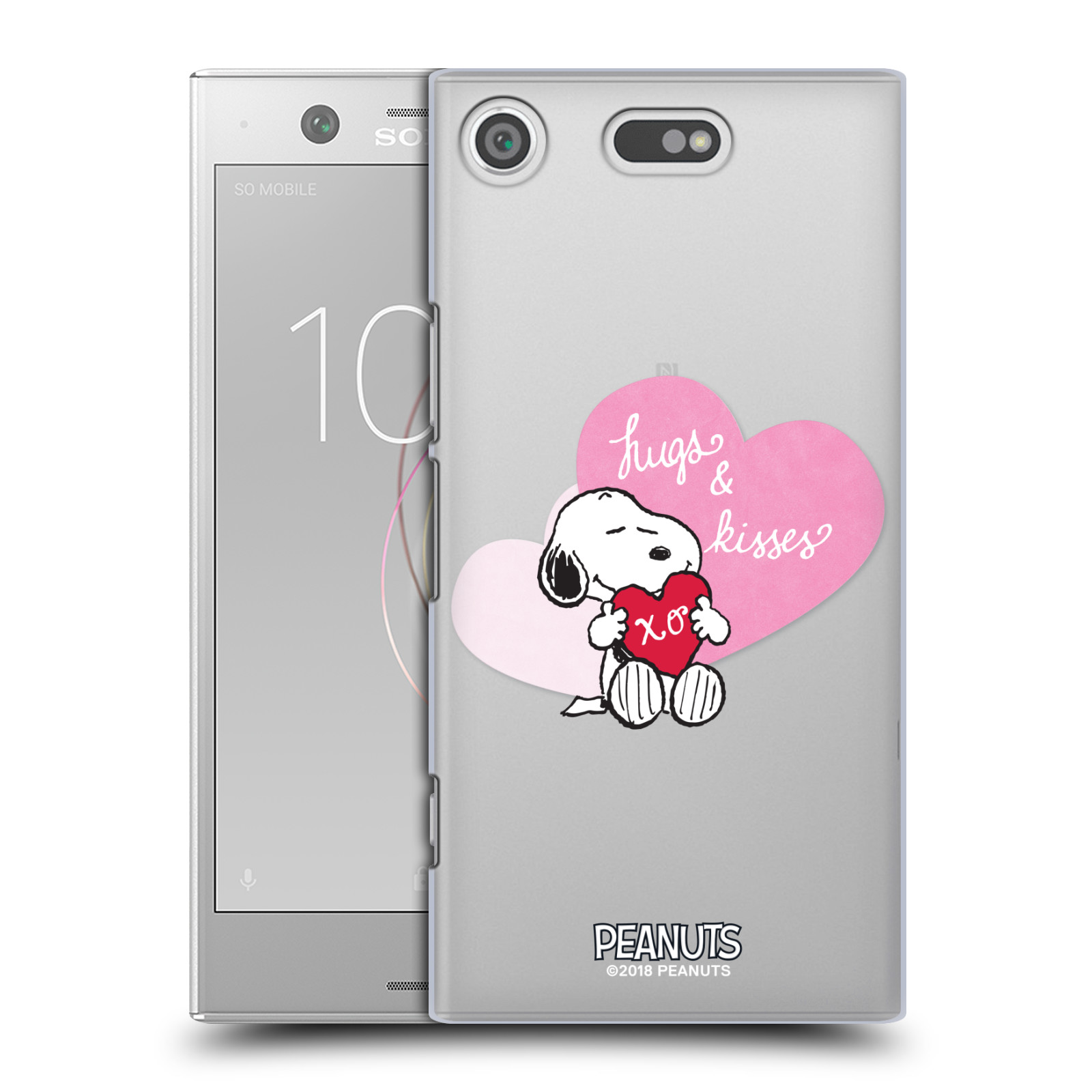 Pouzdro na mobil Sony Xperia XZ1 COMPACT Oficiální motiv Snoopy pejsek růžové srdíčko