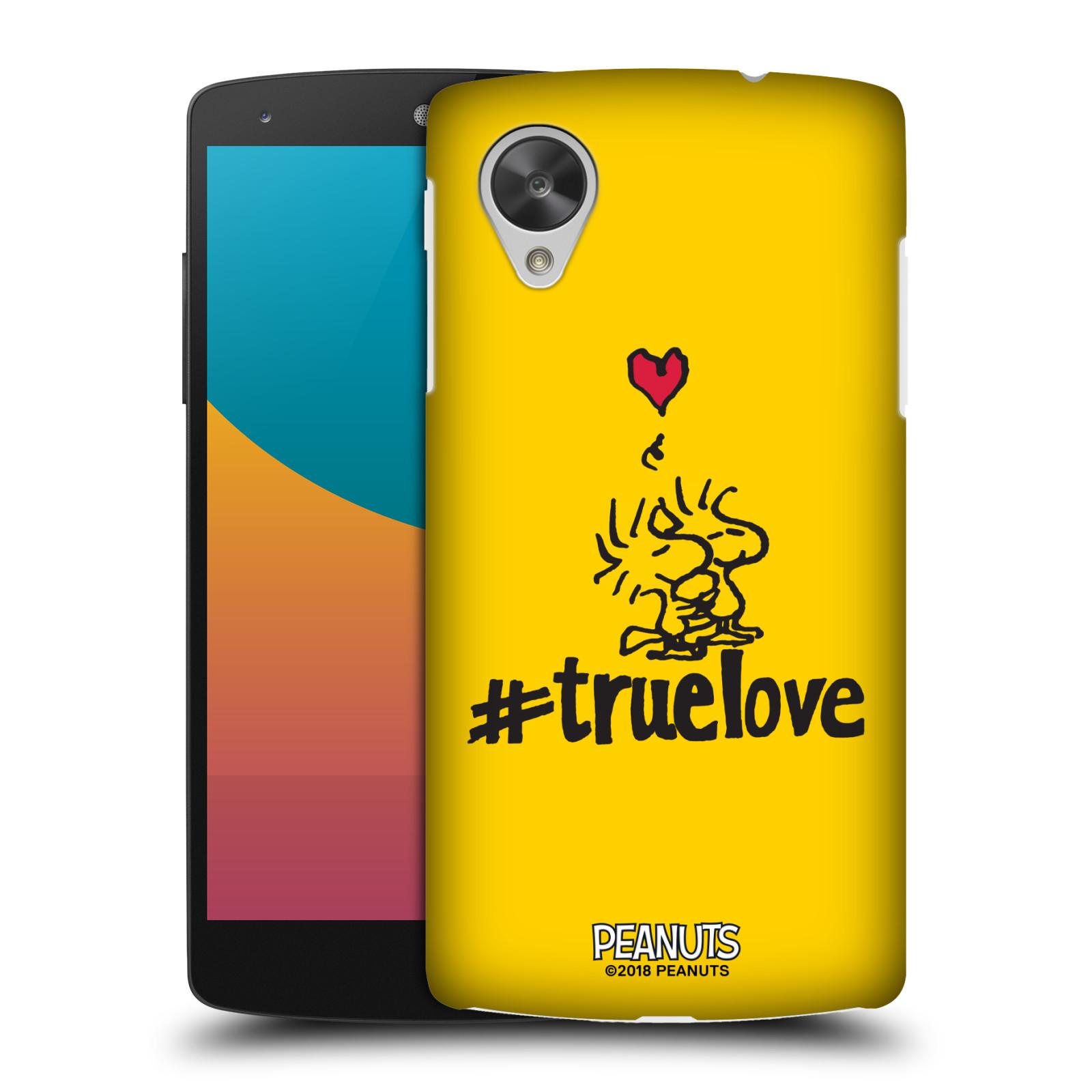 Pouzdro na mobil LG Nexus 5 Oficiální motiv Peanuts ptáčci žlutá barva srdíčko