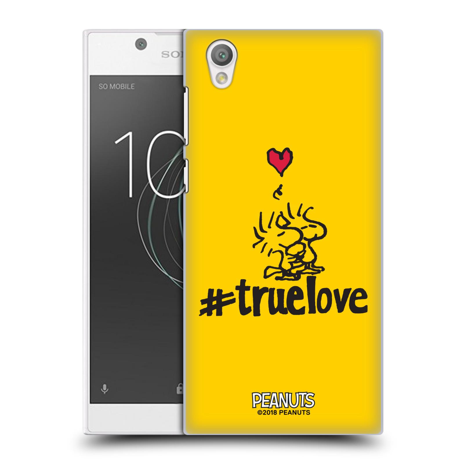 Pouzdro na mobil Sony Xperia L1 Oficiální motiv Peanuts ptáčci žlutá barva srdíčko