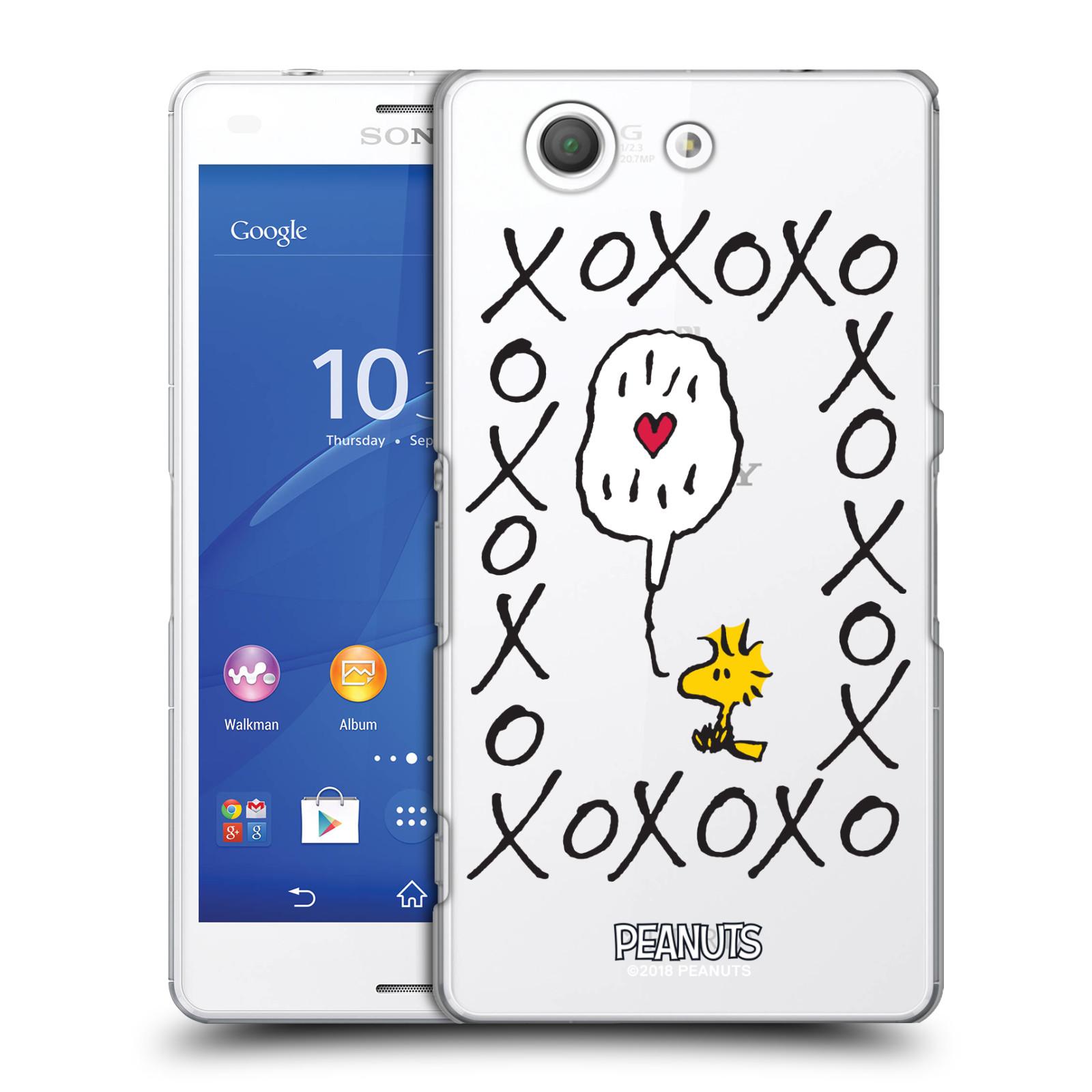 Pouzdro na mobil Sony Xperia Z3 COMPACT Oficiální motiv Peanuts ptáček Woodstock srdíčko