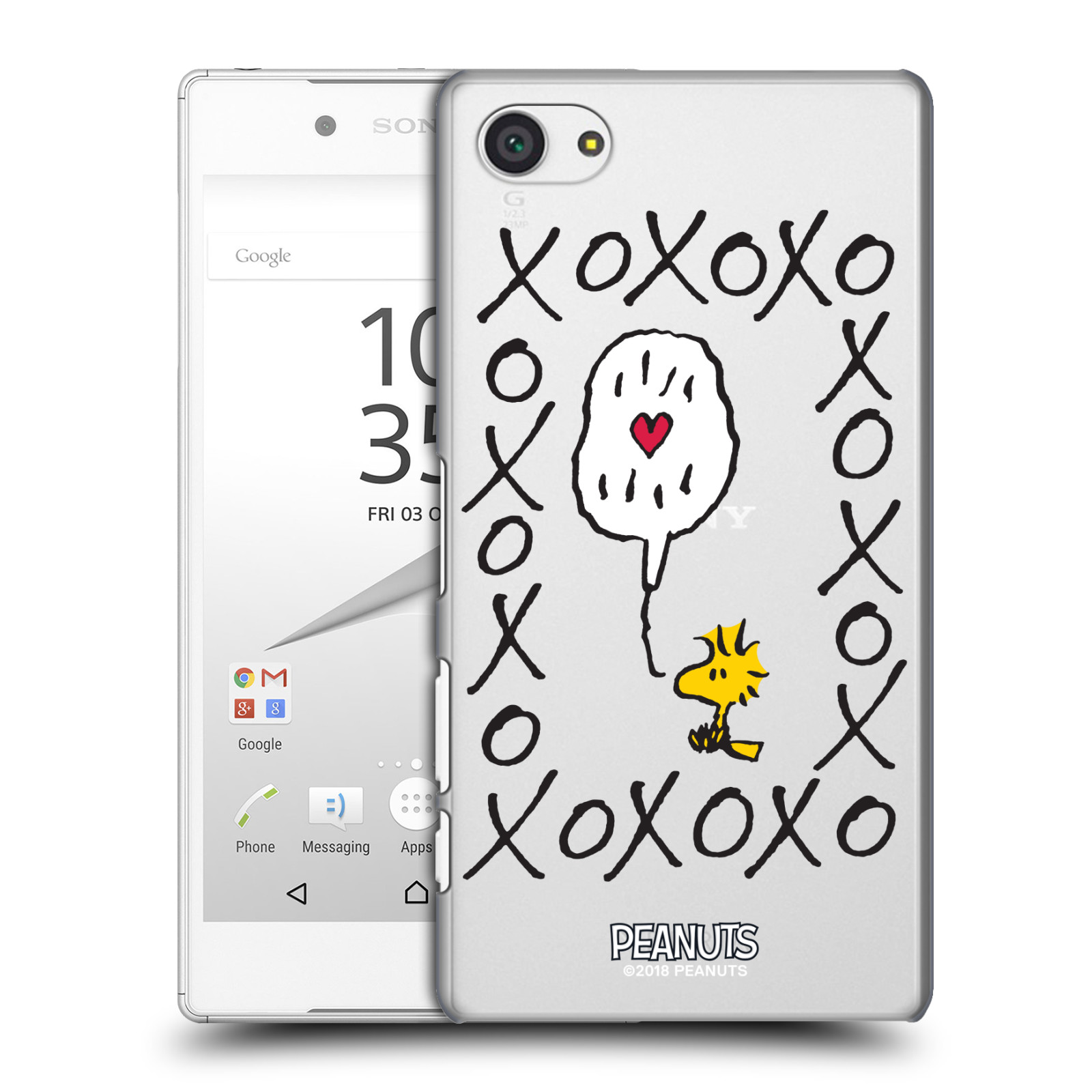 Pouzdro na mobil Sony Xperia Z5 COMPACT Oficiální motiv Peanuts ptáček Woodstock srdíčko
