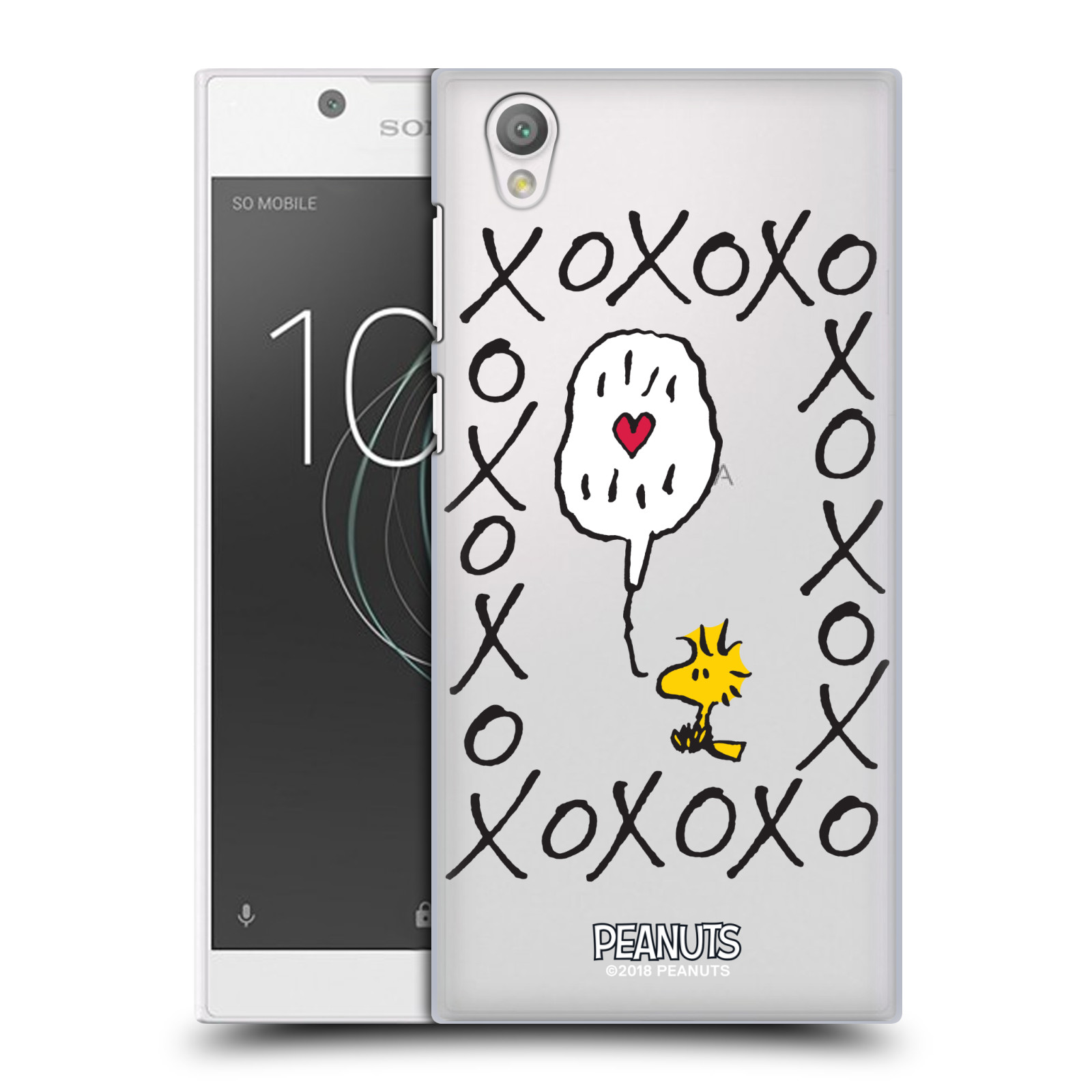 Pouzdro na mobil Sony Xperia L1 Oficiální motiv Peanuts ptáček Woodstock srdíčko