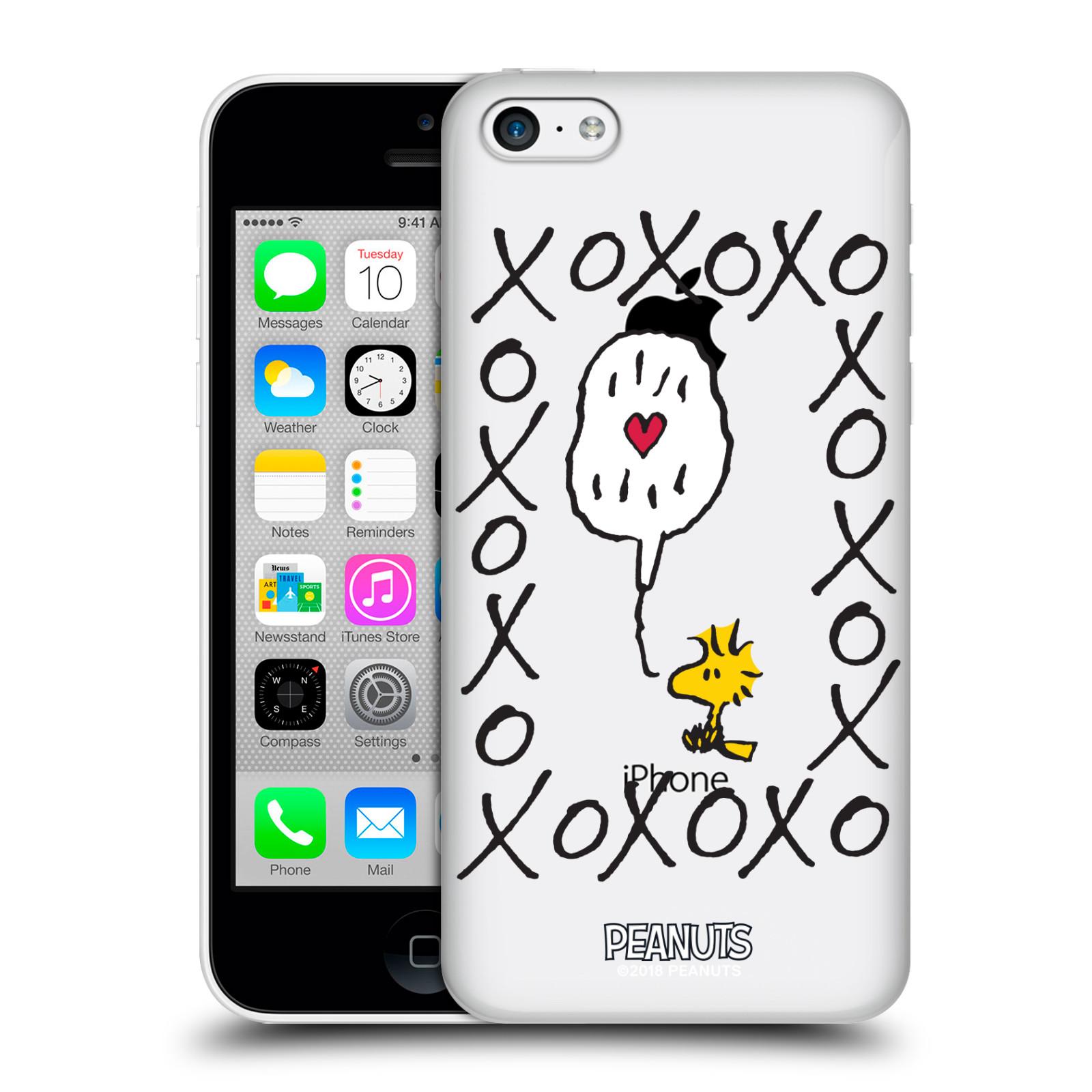 Pouzdro na mobil Apple Iphone 5C Oficiální motiv Peanuts ptáček Woodstock srdíčko