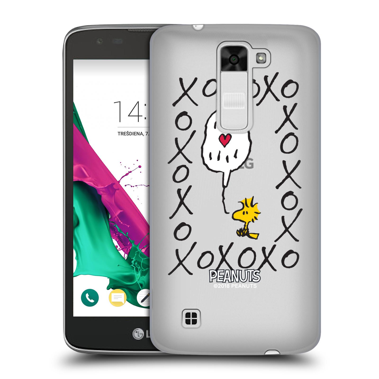 Pouzdro na mobil LG K7 Oficiální motiv Peanuts ptáček Woodstock srdíčko