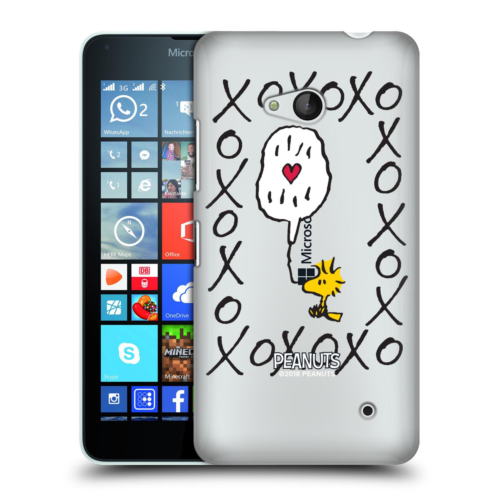 Pouzdro na mobil Microsoft Lumia 640 / 640 DUAL SIM Oficiální motiv Peanuts ptáček Woodstock srdíčko