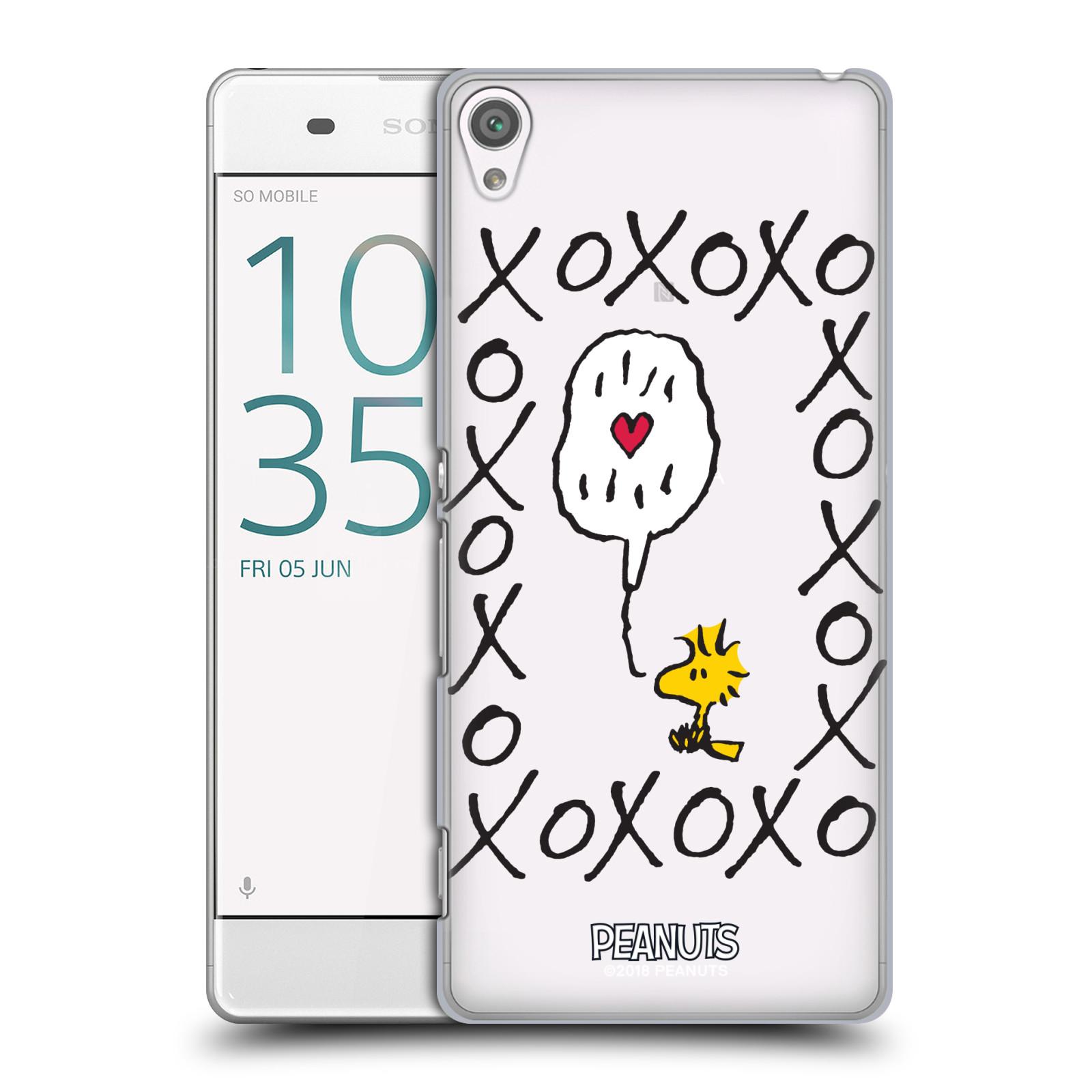 Pouzdro na mobil Sony Xperia XA Oficiální motiv Peanuts ptáček Woodstock srdíčko