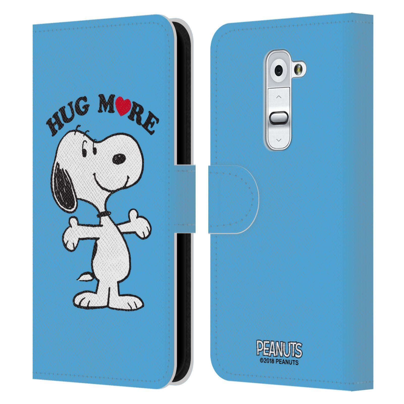 Pouzdro na mobil LG G2 - Head Case - Peanuts - pejsek snoopy světle modré objetí
