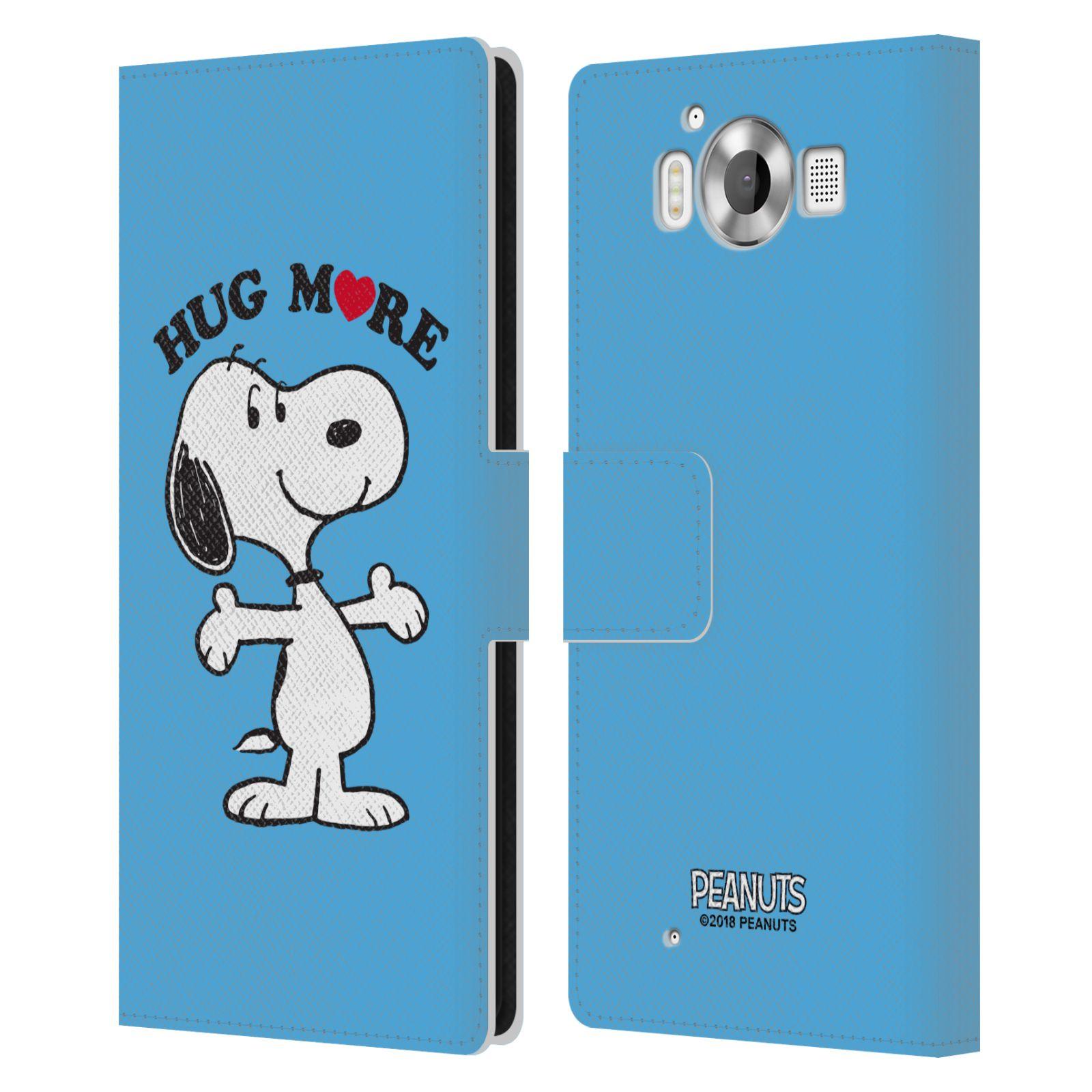 Pouzdro na mobil Nokia Lumia 950 - Head Case - Peanuts - pejsek snoopy světle modré objetí