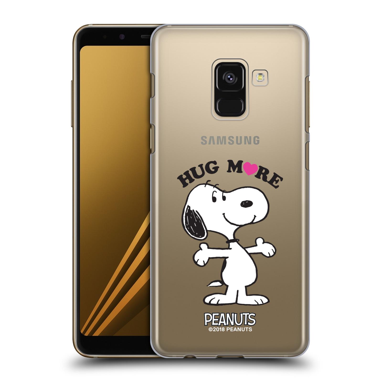 Pouzdro na mobil Samsung Galaxy A8+ 2018, A8 PLUS 2018 Oficiální motiv Peanuts pejsek Snoopy srdíčko