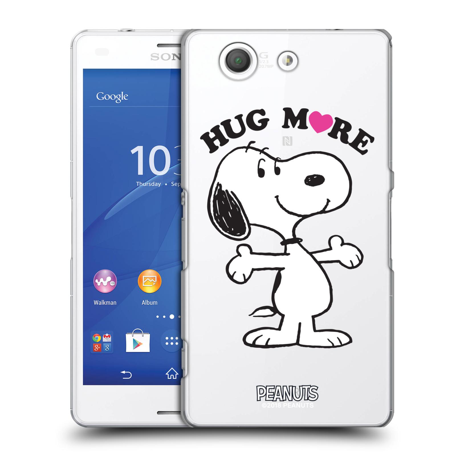 Pouzdro na mobil Sony Xperia Z3 COMPACT Oficiální motiv Peanuts pejsek Snoopy srdíčko