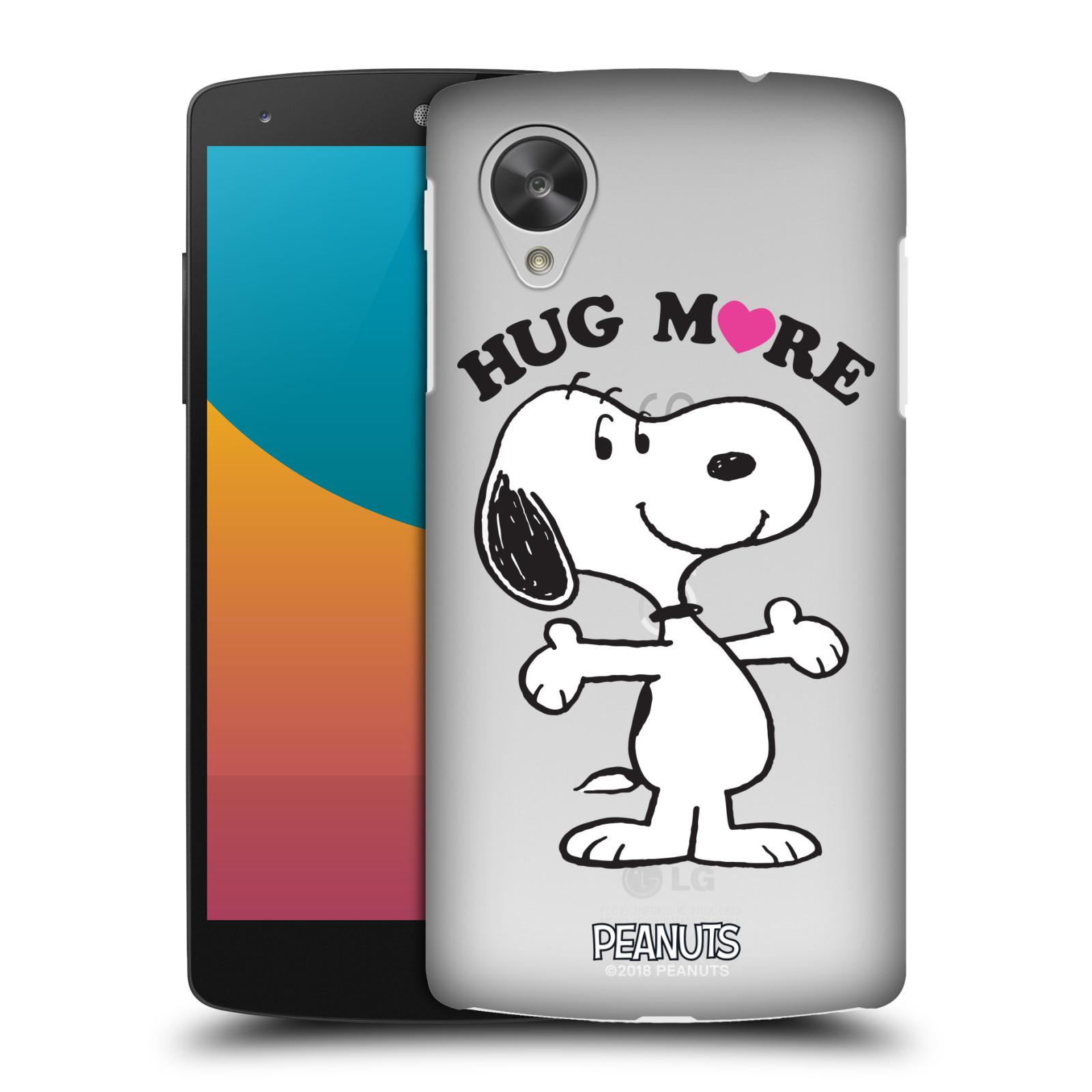 Pouzdro na mobil LG Nexus 5 Oficiální motiv Peanuts pejsek Snoopy srdíčko
