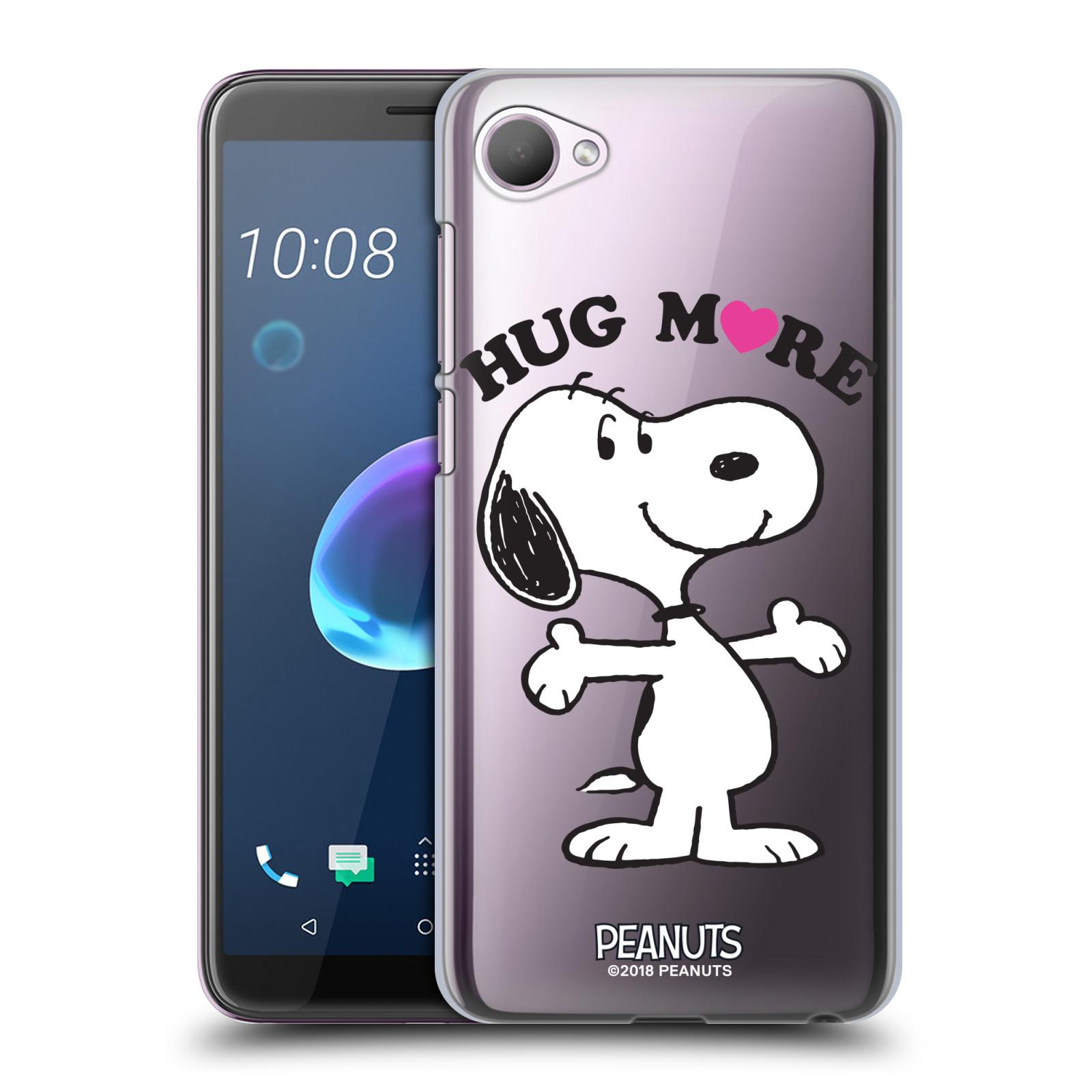 Pouzdro na mobil HTC Desire 12 / Desire 12 DUAL SIM Oficiální motiv Peanuts pejsek Snoopy srdíčko
