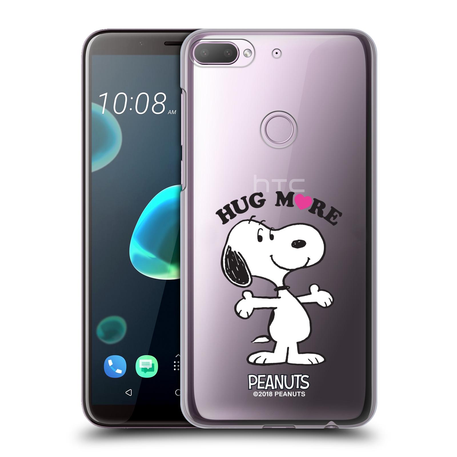 Pouzdro na mobil HTC Desire 12+ / Desire 12+ DUAL SIM Oficiální motiv Peanuts pejsek Snoopy srdíčko