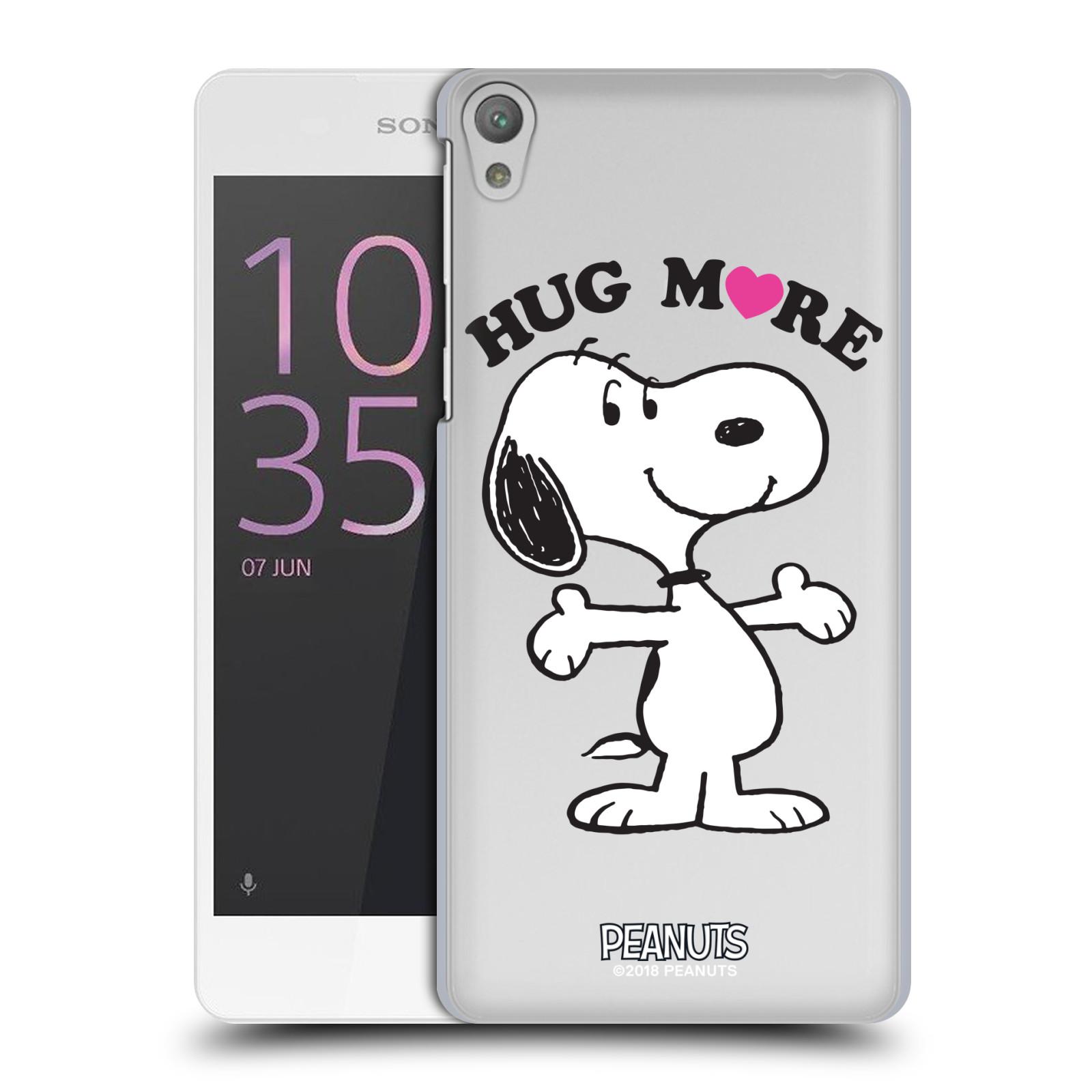 Pouzdro na mobil Sony Xperia E5 Oficiální motiv Peanuts pejsek Snoopy srdíčko