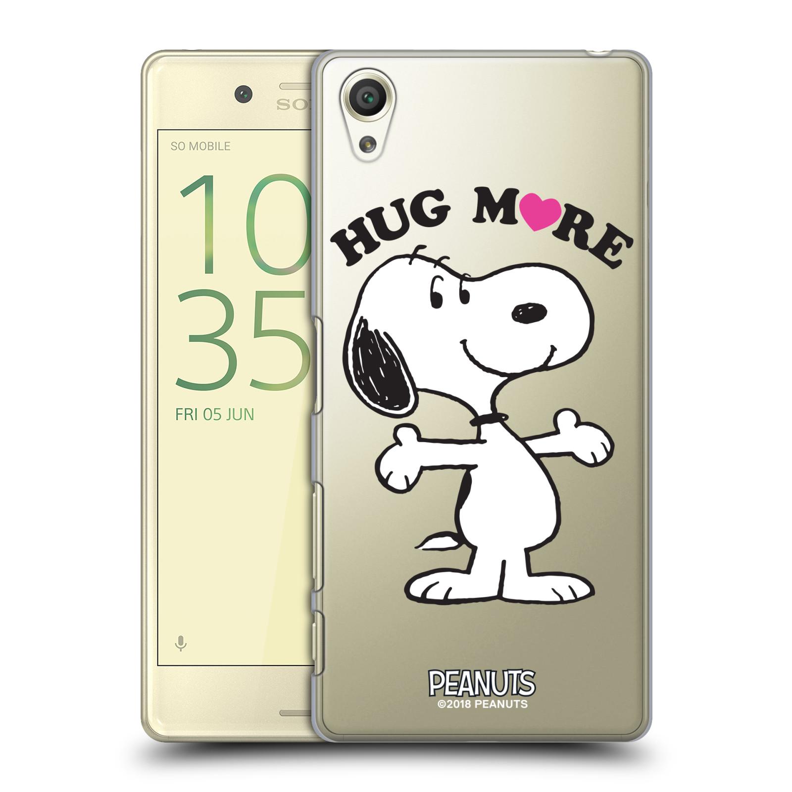 Pouzdro na mobil Sony Xperia X Oficiální motiv Peanuts pejsek Snoopy srdíčko