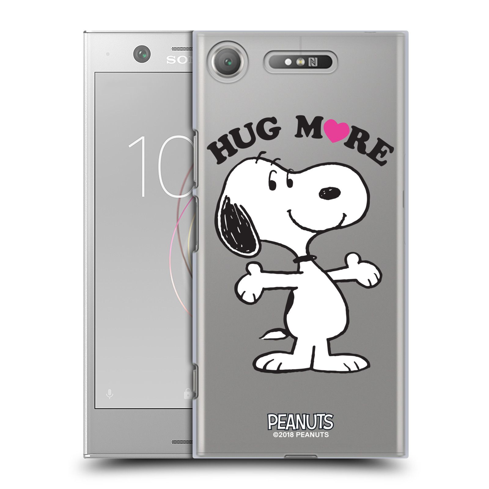 Pouzdro na mobil Sony Xperia XZ1 Oficiální motiv Peanuts pejsek Snoopy srdíčko