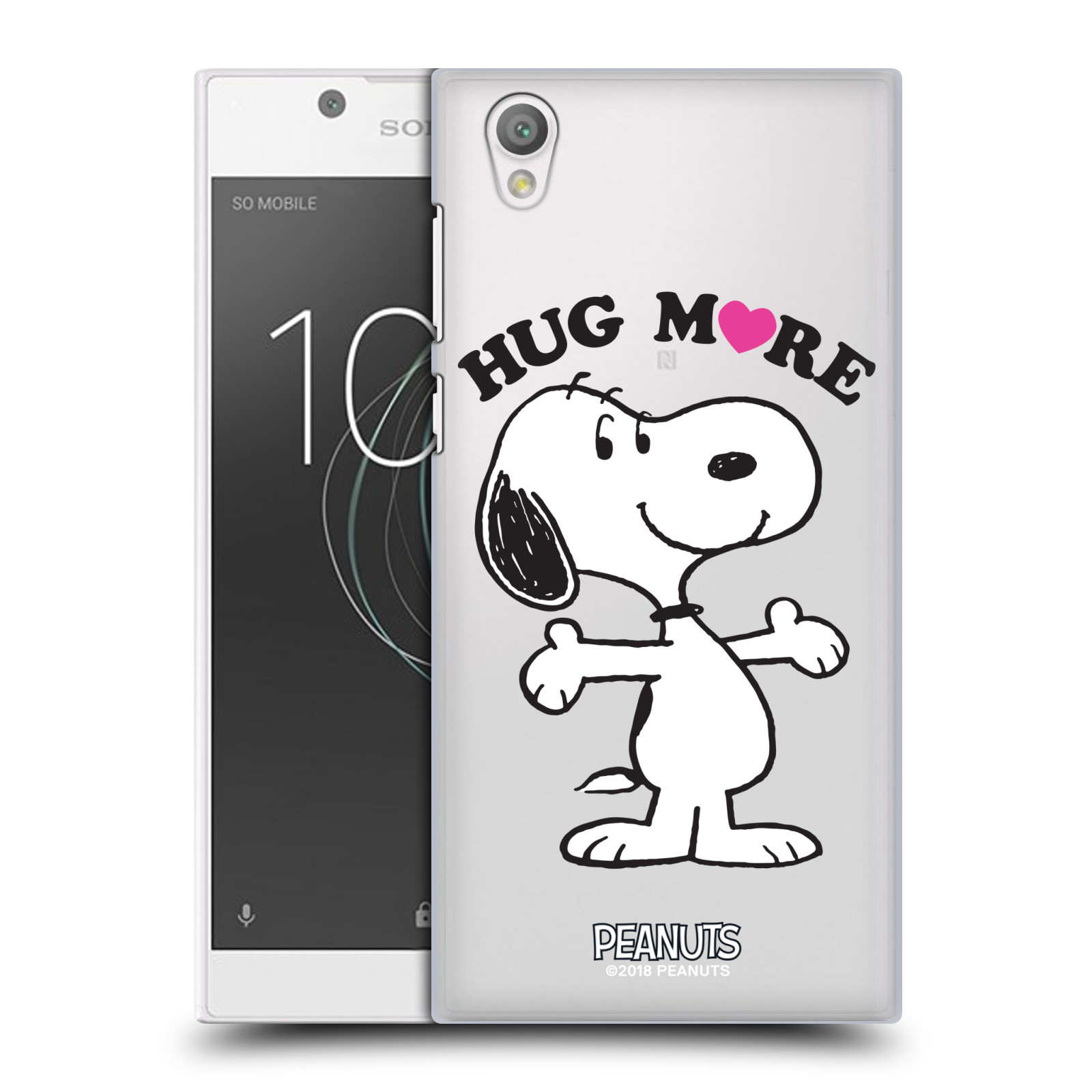 Pouzdro na mobil Sony Xperia L1 Oficiální motiv Peanuts pejsek Snoopy srdíčko