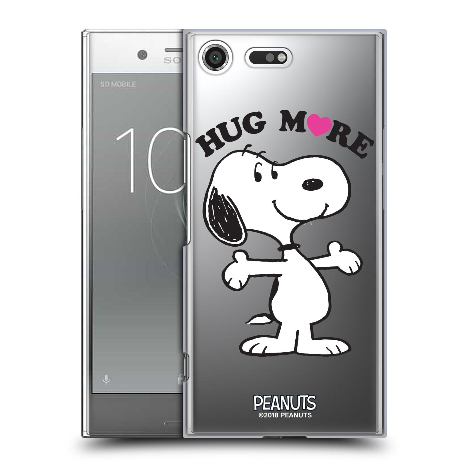 Pouzdro na mobil Sony Xperia XZ PREMIUM Oficiální motiv Peanuts pejsek Snoopy srdíčko