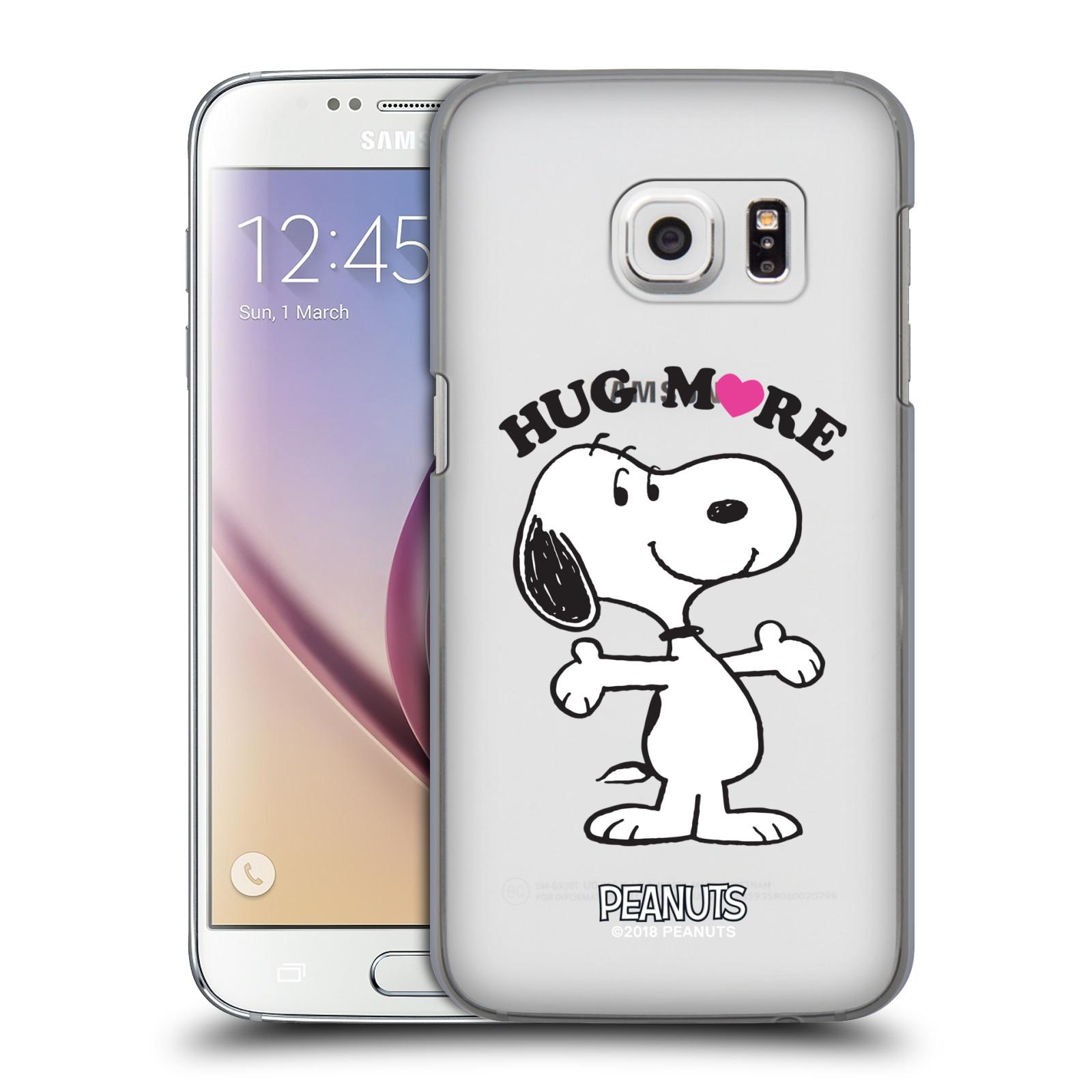 Pouzdro na mobil Samsung Galaxy S7 Oficiální motiv Peanuts pejsek Snoopy srdíčko