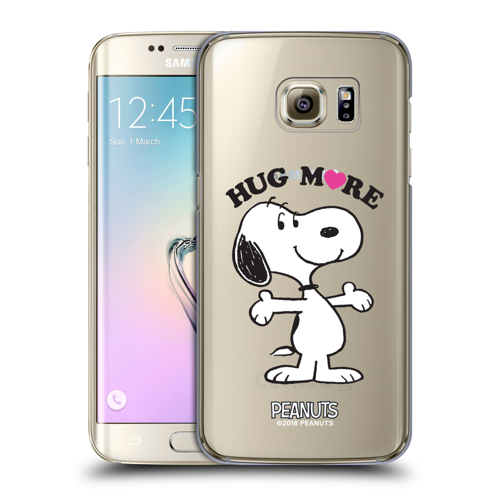 Pouzdro na mobil Samsung Galaxy S7 EDGE Oficiální motiv Peanuts pejsek Snoopy srdíčko