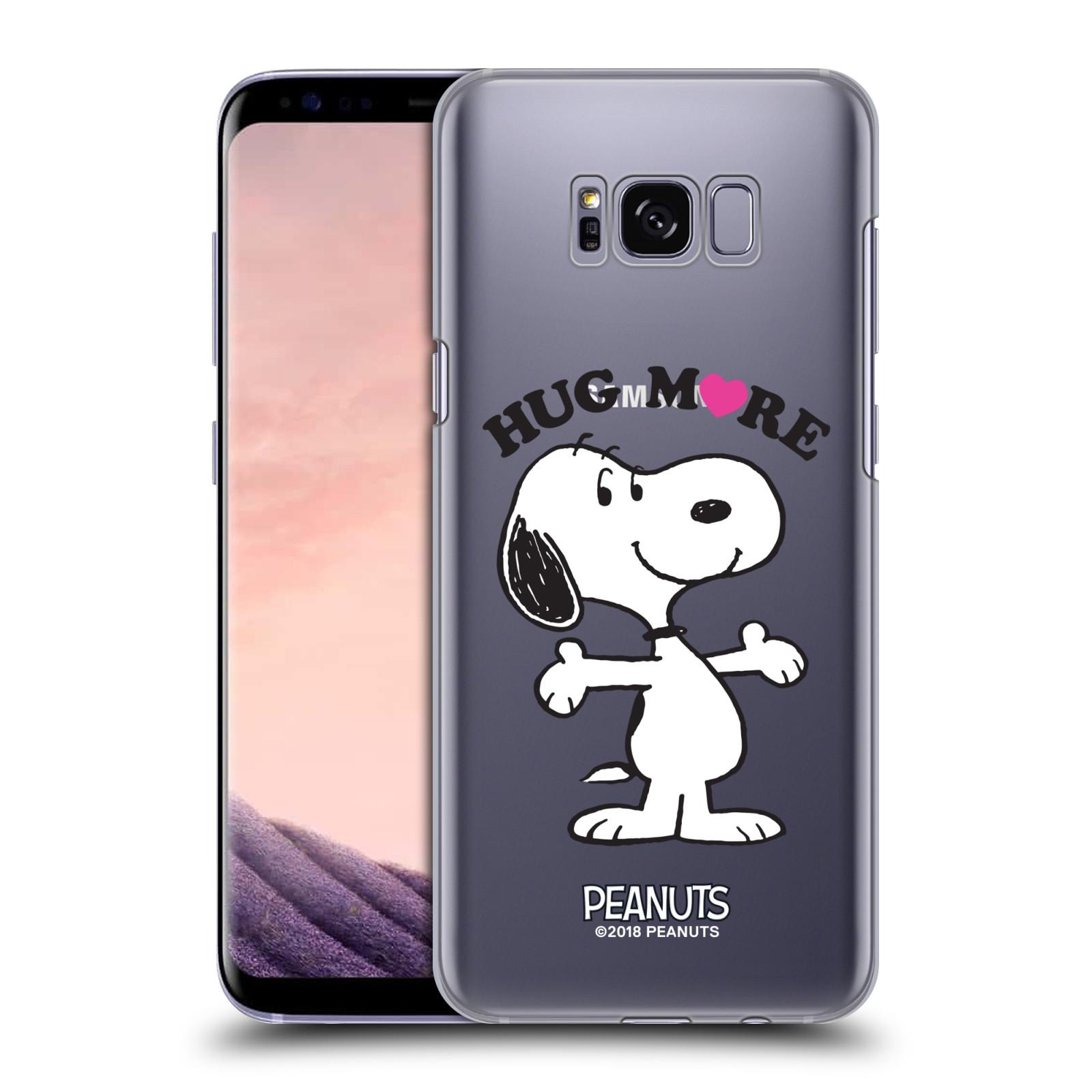 Pouzdro na mobil Samsung Galaxy S8 Oficiální motiv Peanuts pejsek Snoopy srdíčko
