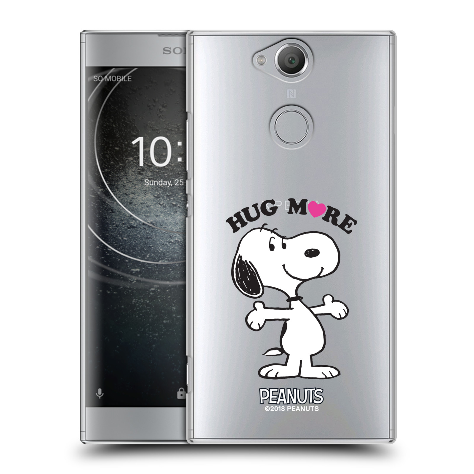 Pouzdro na mobil Sony Xperia XA2 Oficiální motiv Peanuts pejsek Snoopy srdíčko