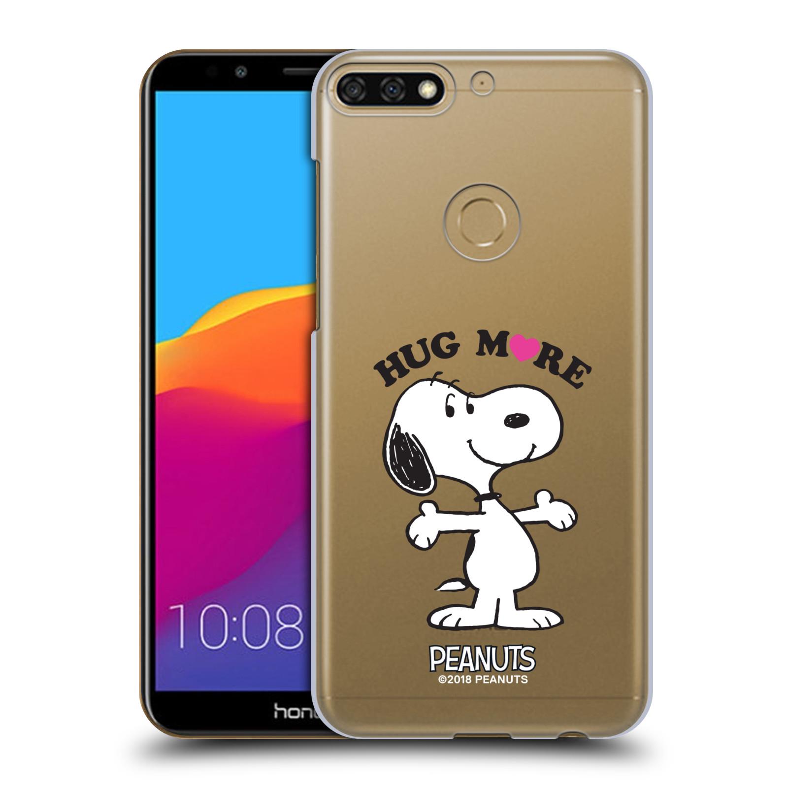 Pouzdro na mobil HONOR 7C Oficiální motiv Peanuts pejsek Snoopy srdíčko