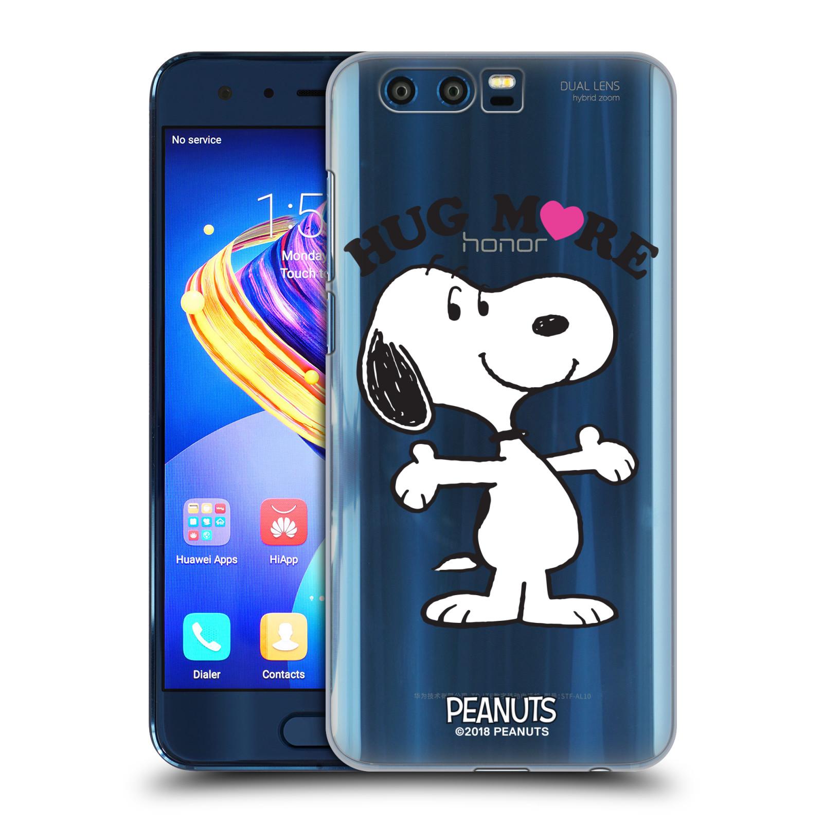 Pouzdro na mobil HONOR 9 Oficiální motiv Peanuts pejsek Snoopy srdíčko