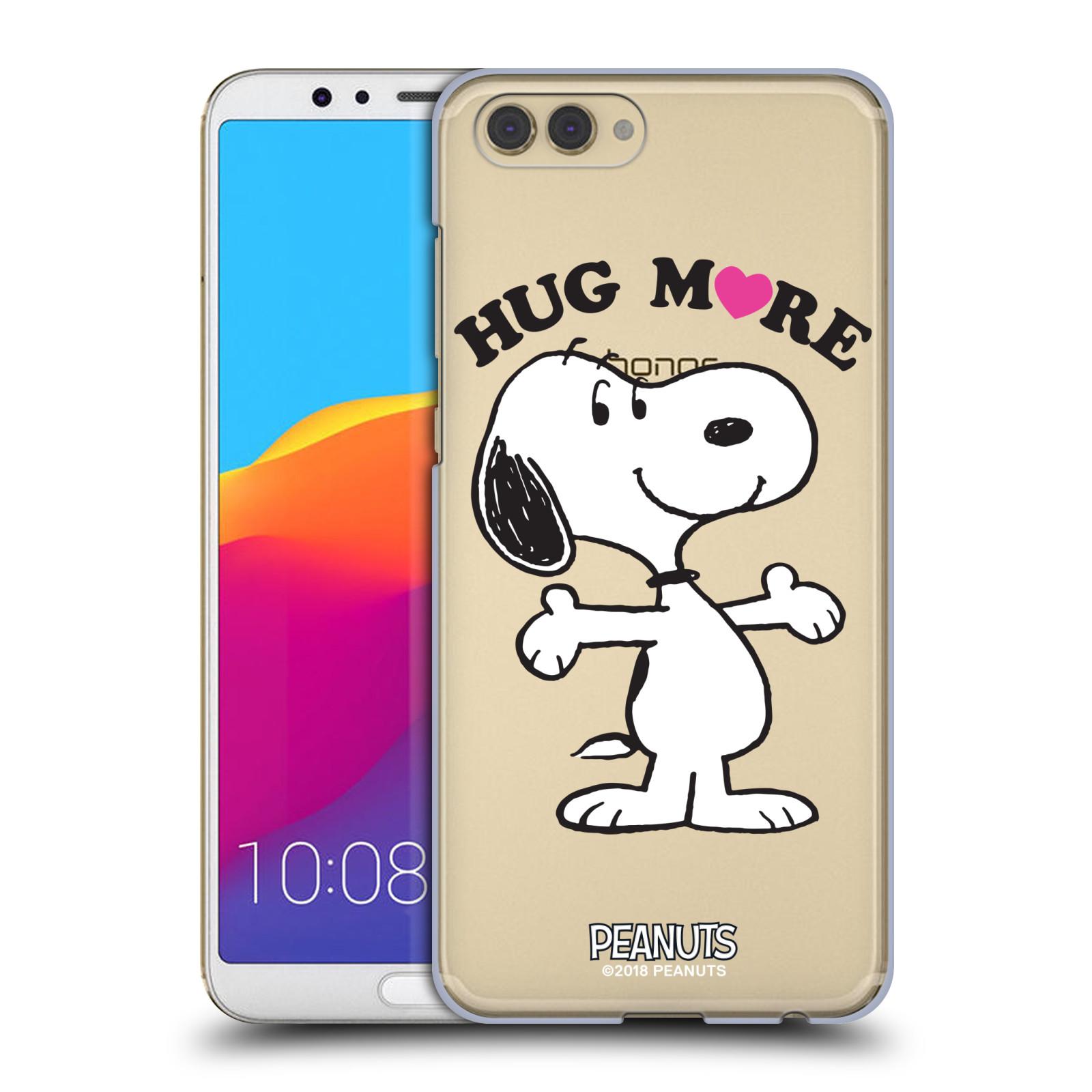 Pouzdro na mobil HONOR View 10 / V10 Oficiální motiv Peanuts pejsek Snoopy srdíčko