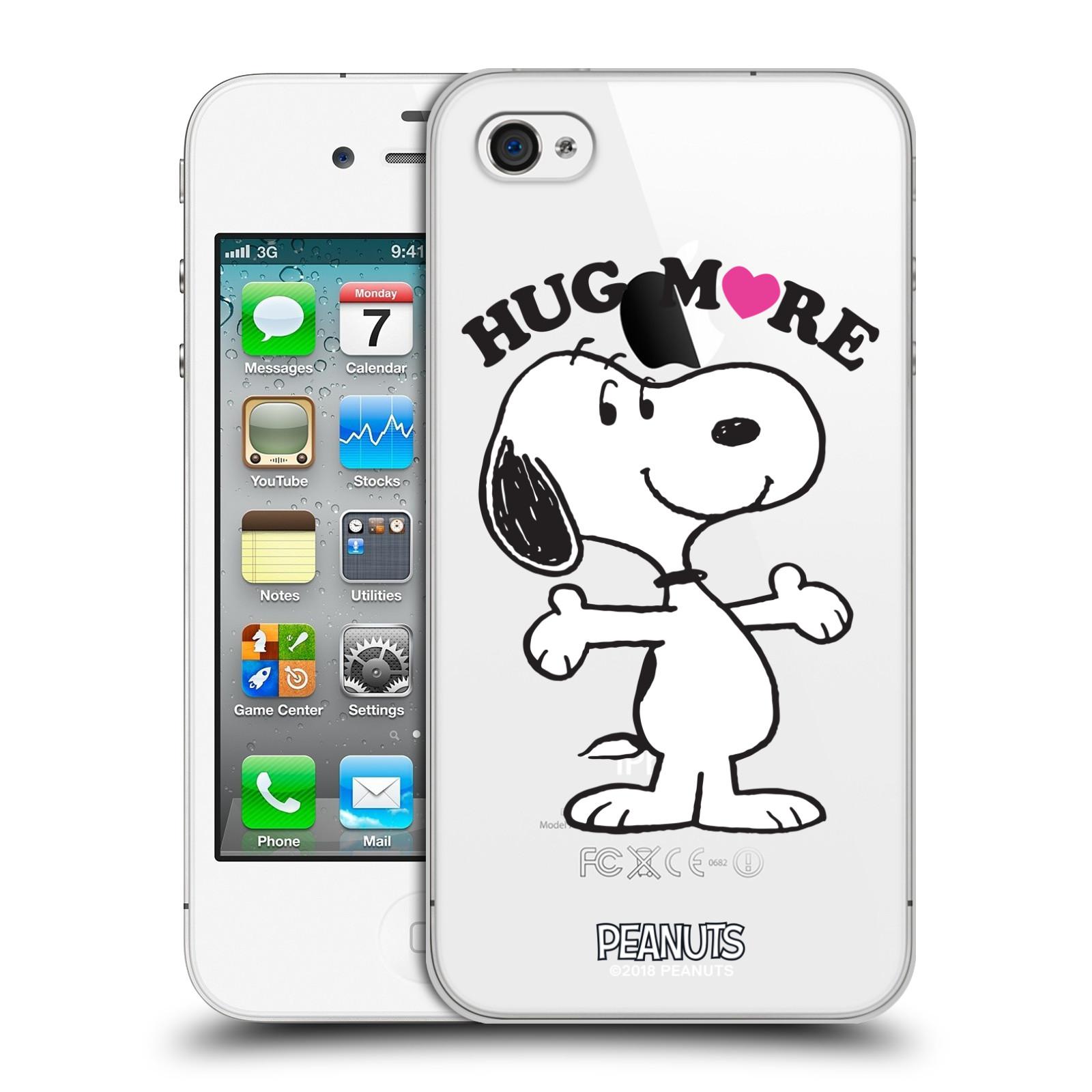 Pouzdro na mobil Apple Iphone 4/4S Oficiální motiv Peanuts pejsek Snoopy srdíčko