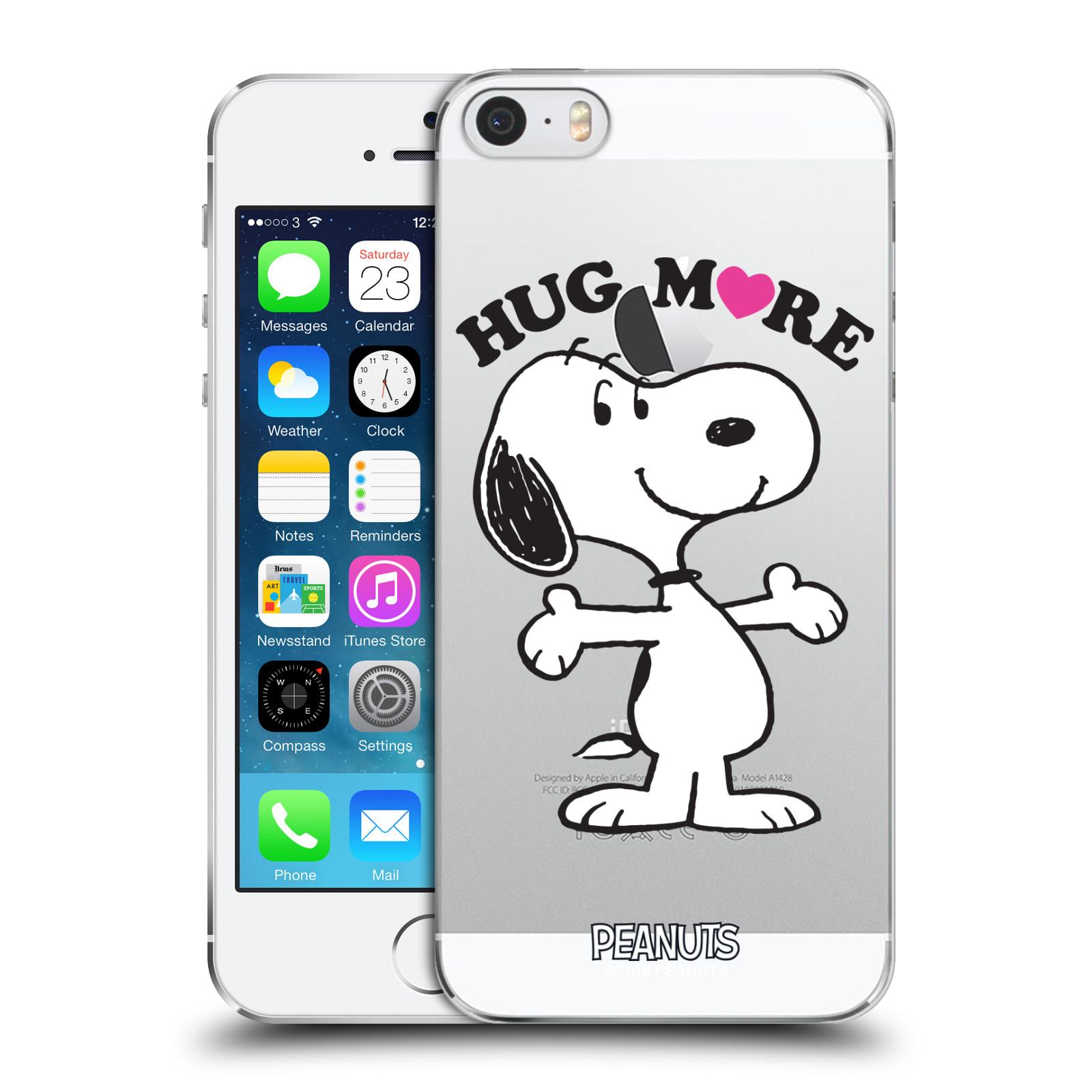 Pouzdro na mobil Apple Iphone 5/5S Oficiální motiv Peanuts pejsek Snoopy srdíčko