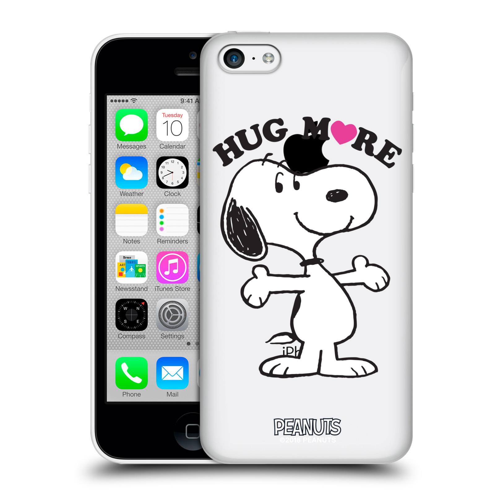 Pouzdro na mobil Apple Iphone 5C Oficiální motiv Peanuts pejsek Snoopy srdíčko