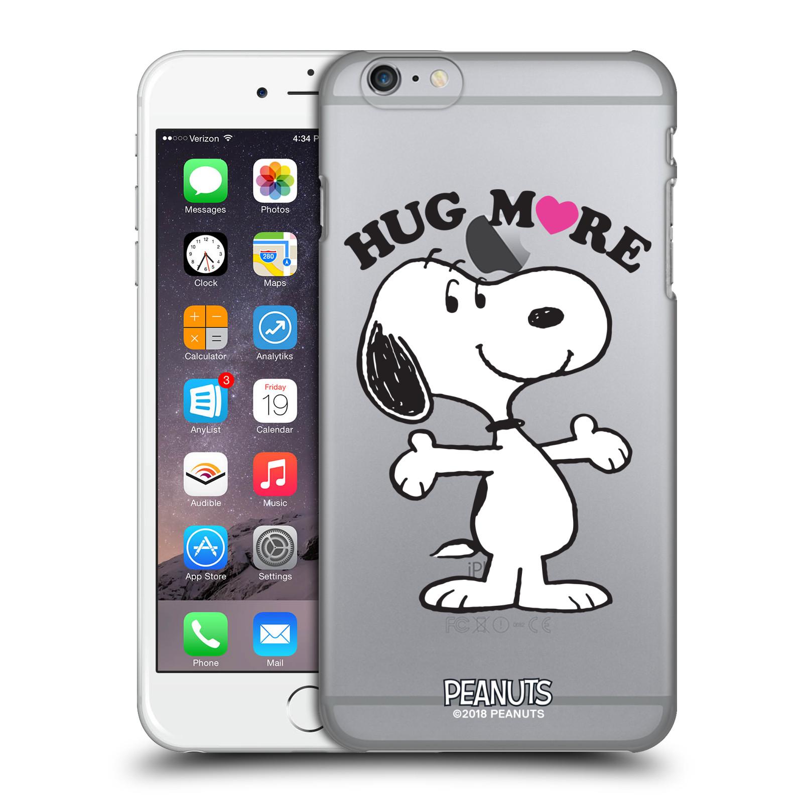 Pouzdro na mobil Apple Iphone 6/6S PLUS Oficiální motiv Peanuts pejsek Snoopy srdíčko