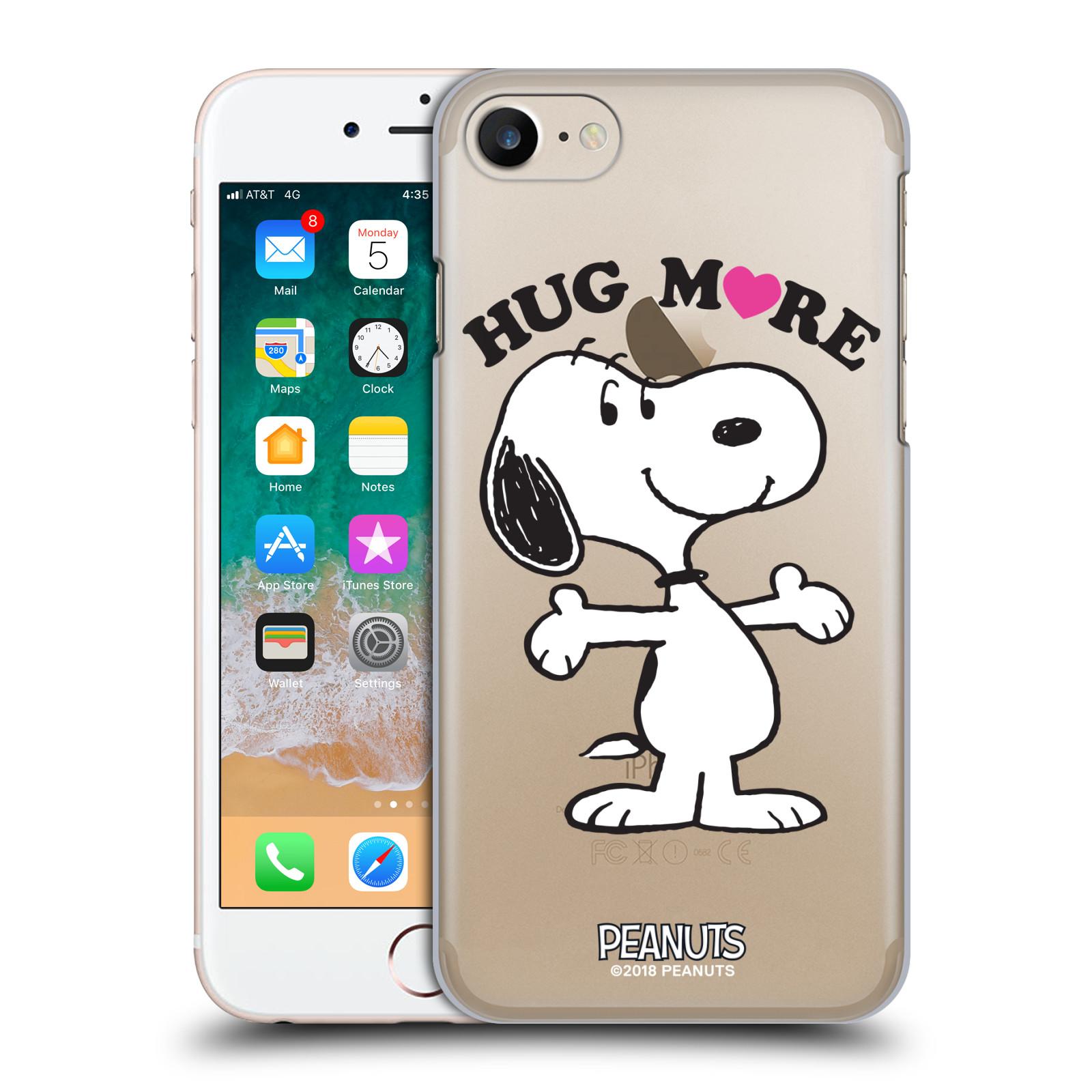 Pouzdro na mobil Apple Iphone 7/8 Oficiální motiv Peanuts pejsek Snoopy srdíčko