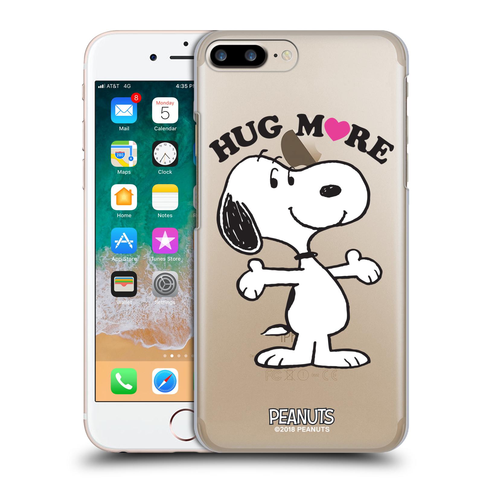 Pouzdro na mobil Apple Iphone 7/8 PLUS Oficiální motiv Peanuts pejsek Snoopy srdíčko