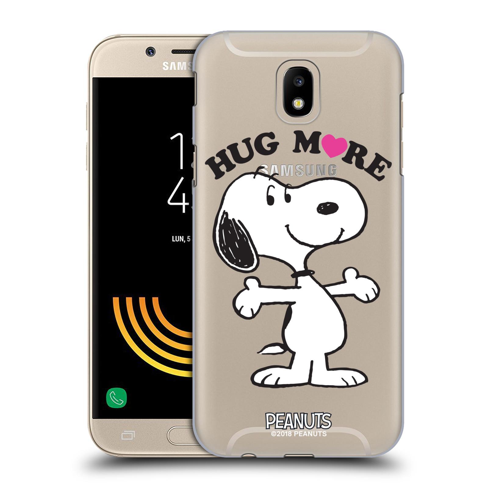 Pouzdro na mobil Samsung Galaxy J5 2017 Oficiální motiv Peanuts pejsek Snoopy srdíčko