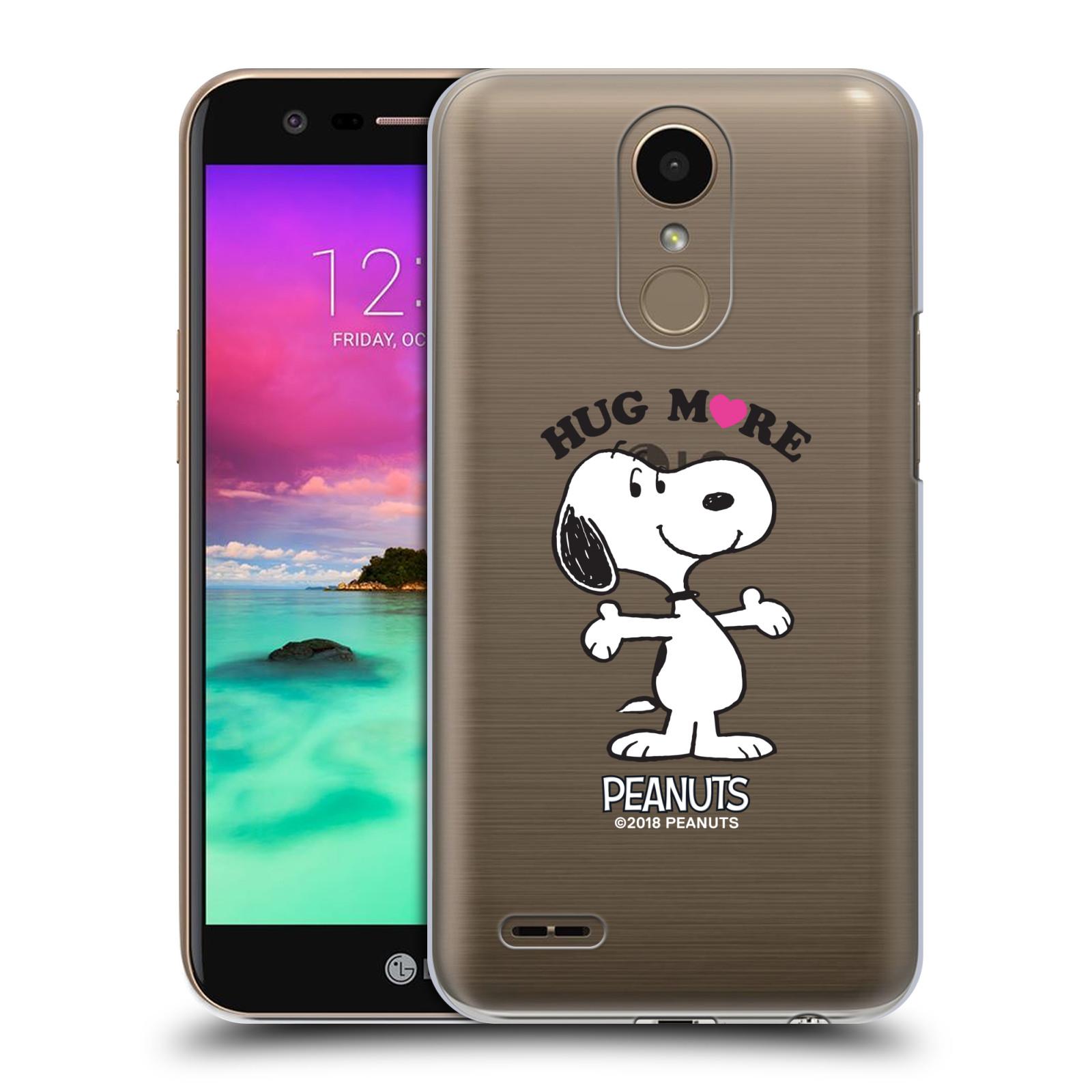 Pouzdro na mobil LG K10 2017 / K10 2017 DUAL SIM Oficiální motiv Peanuts pejsek Snoopy srdíčko