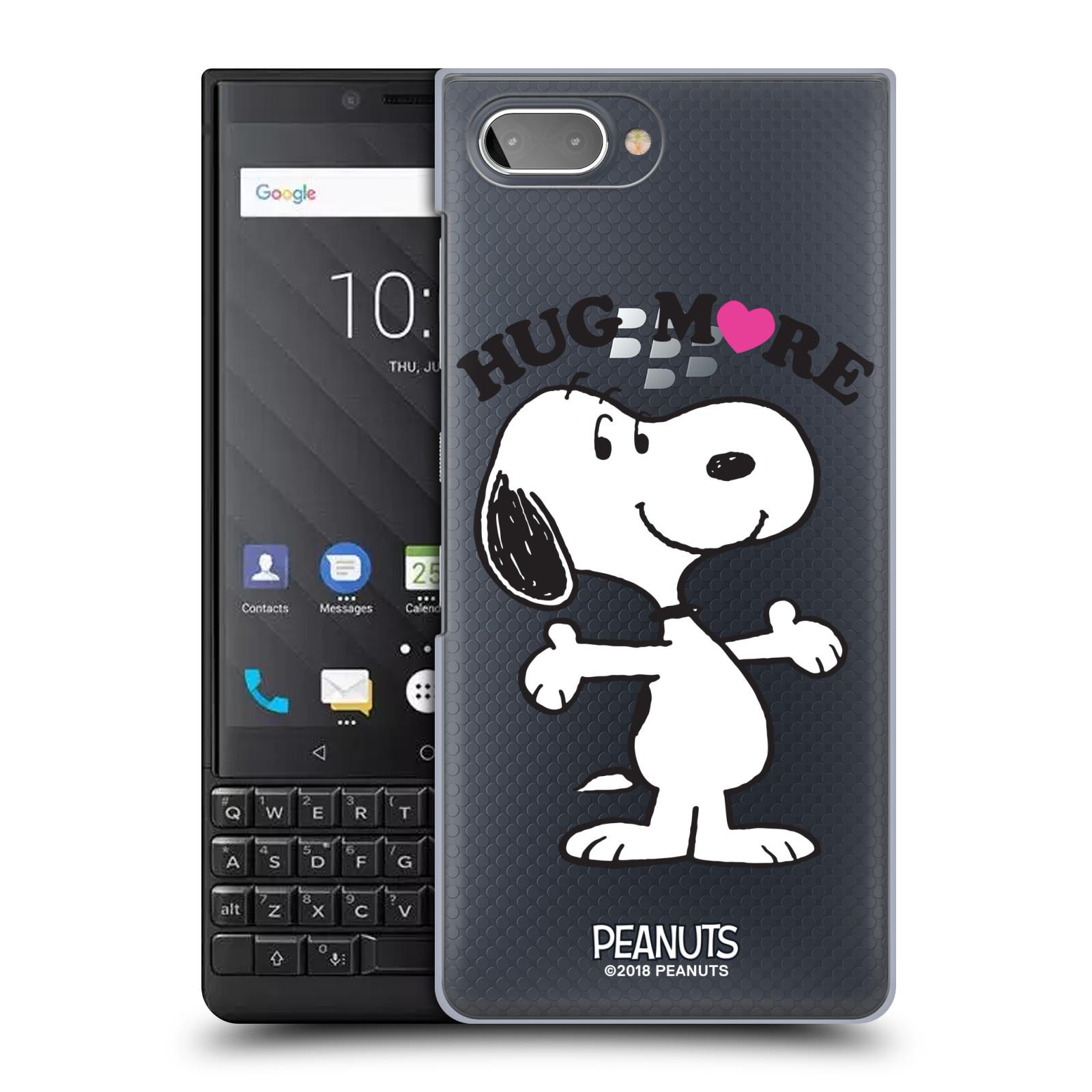 Pouzdro na mobil Blackberry KEY 2 Oficiální motiv Peanuts pejsek Snoopy srdíčko