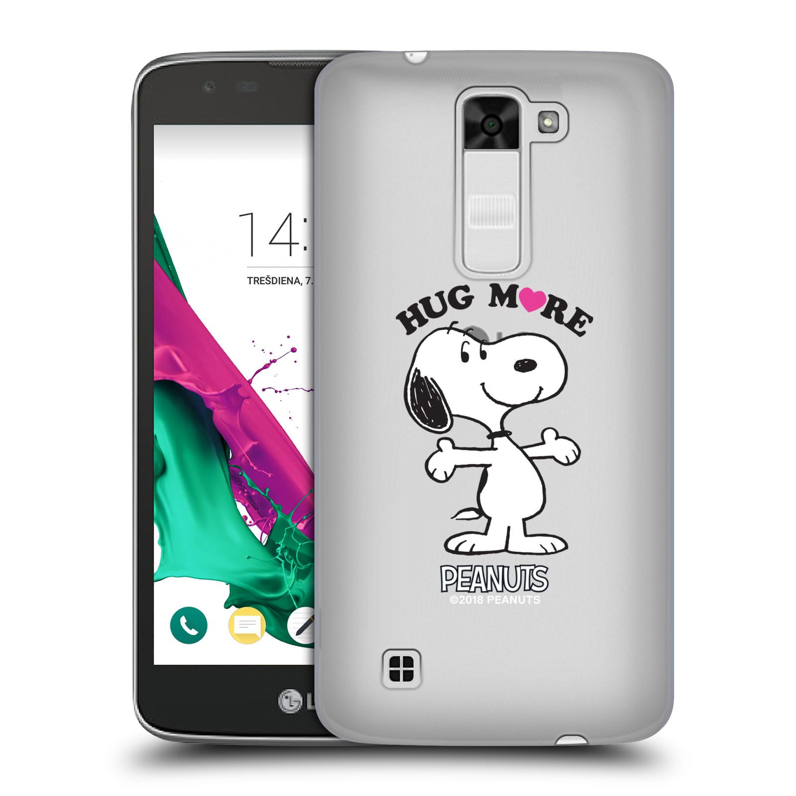 Pouzdro na mobil LG K7 Oficiální motiv Peanuts pejsek Snoopy srdíčko