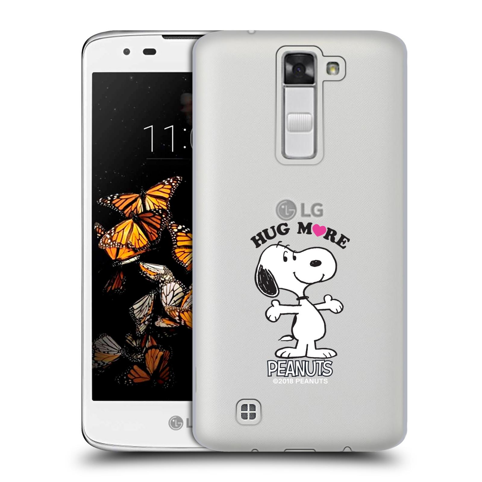 Pouzdro na mobil LG K8 Oficiální motiv Peanuts pejsek Snoopy srdíčko