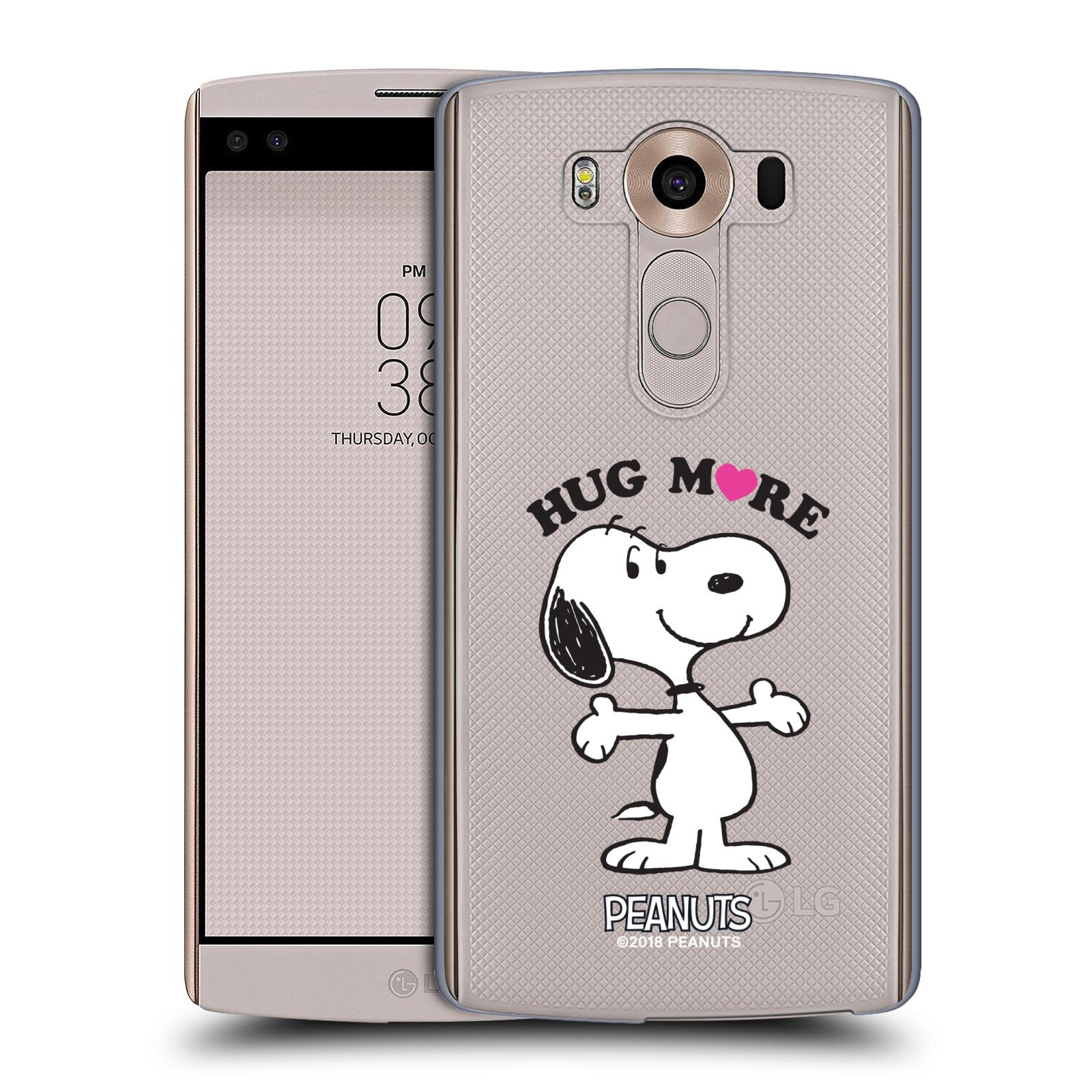 Pouzdro na mobil LG V10 Oficiální motiv Peanuts pejsek Snoopy srdíčko