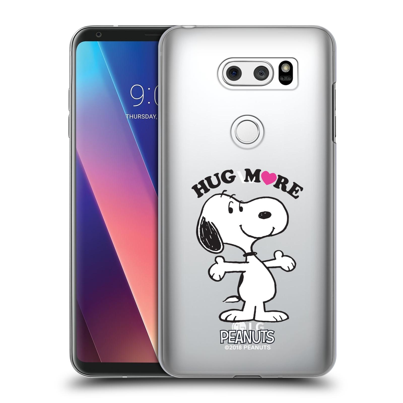 Pouzdro na mobil LG V30 Oficiální motiv Peanuts pejsek Snoopy srdíčko
