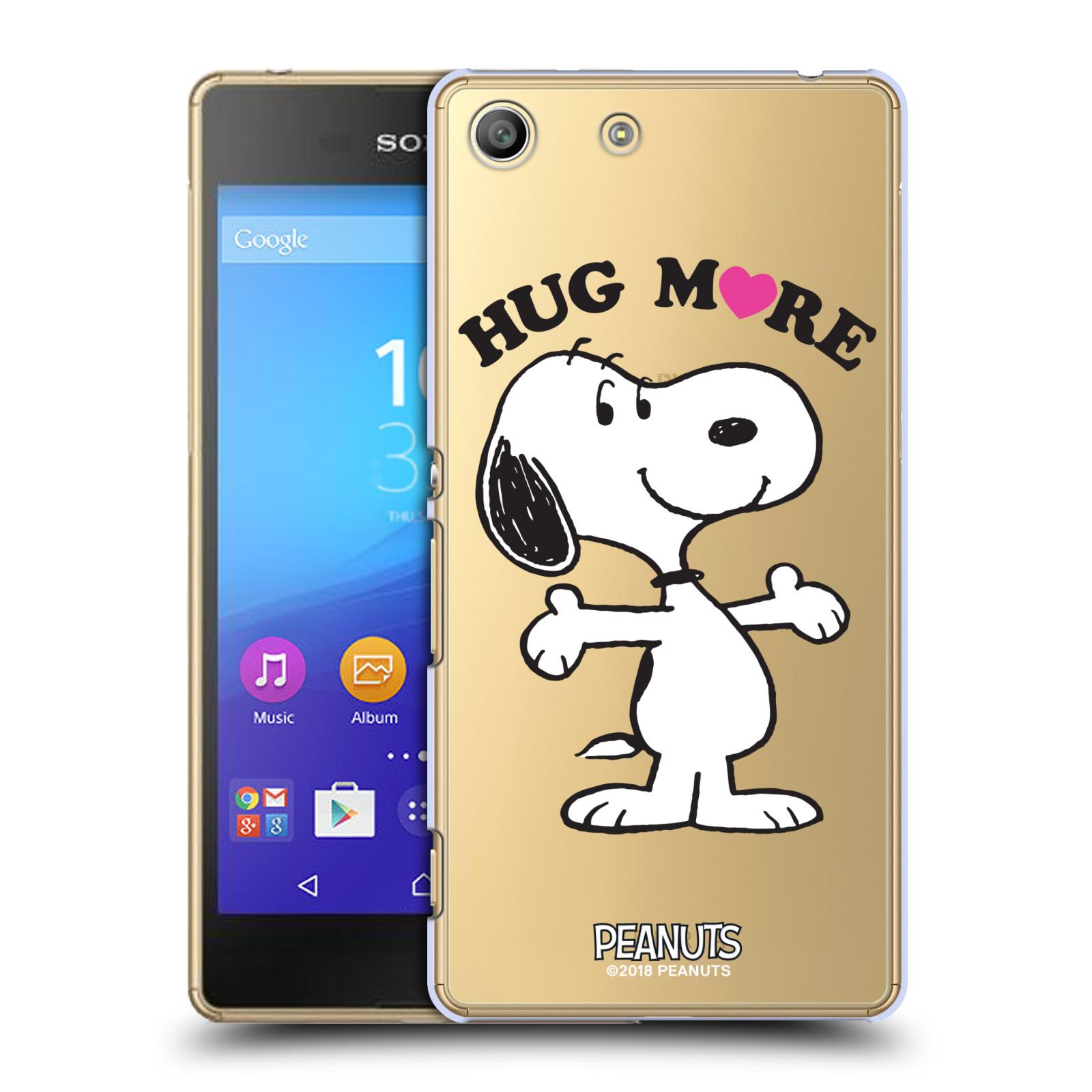 Pouzdro na mobil Sony Xperia M5 Oficiální motiv Peanuts pejsek Snoopy srdíčko