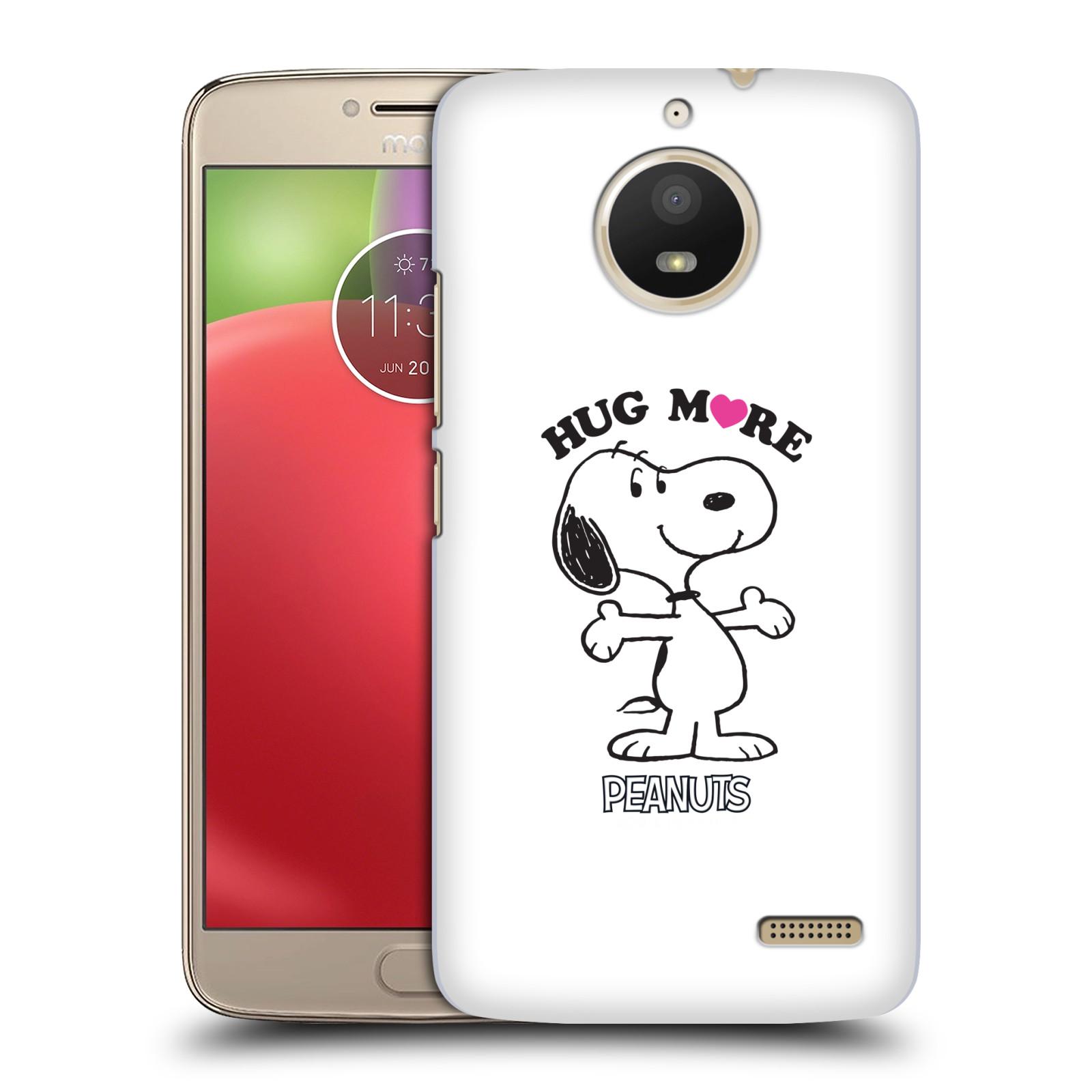 Pouzdro na mobil Lenovo Moto E4 Oficiální motiv Peanuts pejsek Snoopy srdíčko