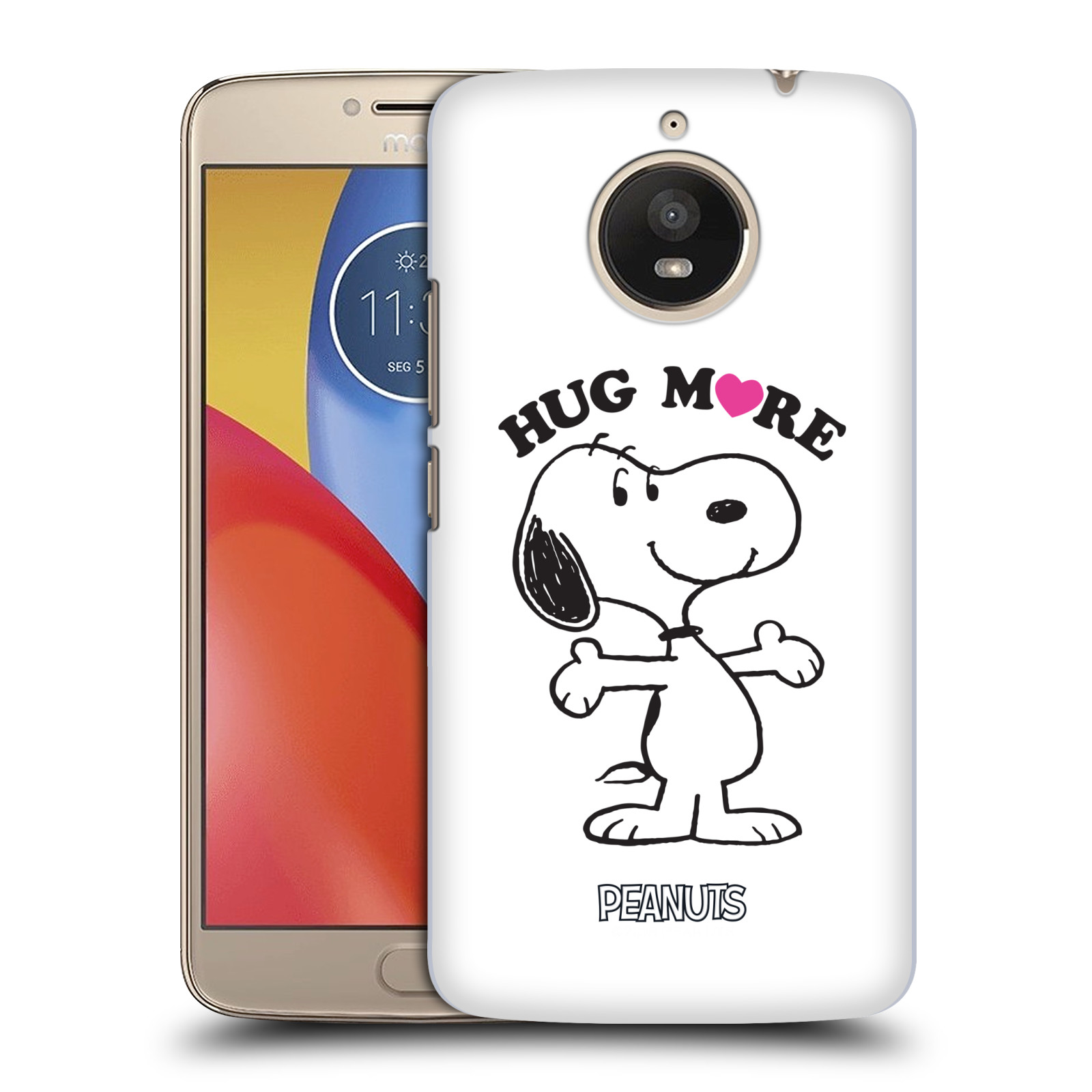 Pouzdro na mobil Lenovo Moto E4 PLUS Oficiální motiv Peanuts pejsek Snoopy srdíčko