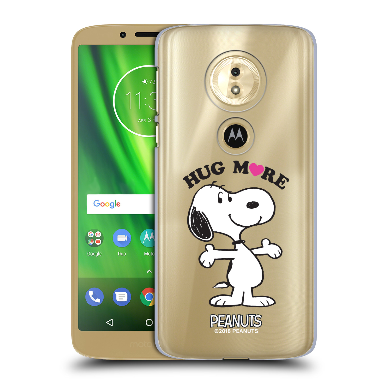 Pouzdro na mobil Motorola Moto E5 Oficiální motiv Peanuts pejsek Snoopy srdíčko
