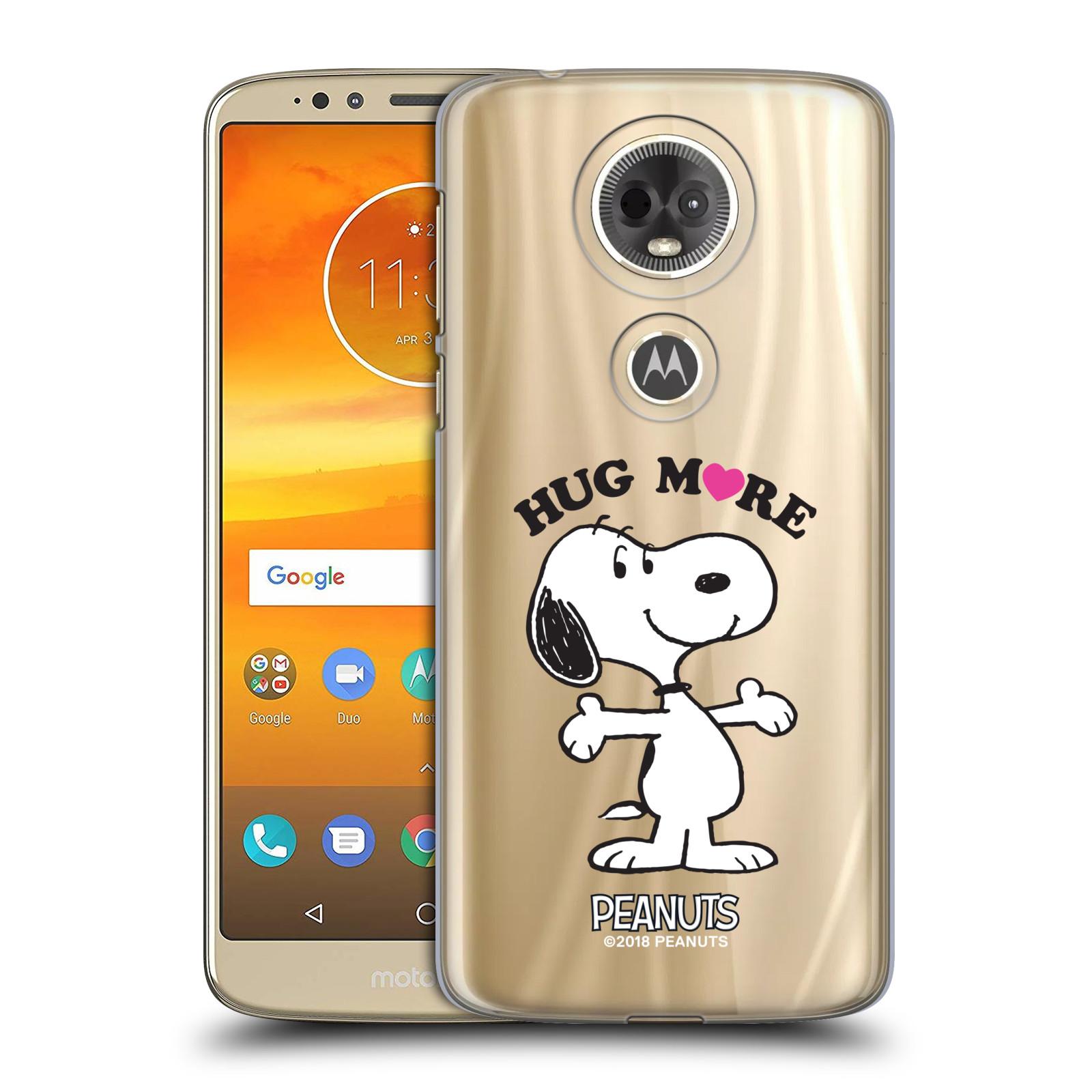 Pouzdro na mobil Motorola Moto E5 PLUS Oficiální motiv Peanuts pejsek Snoopy srdíčko