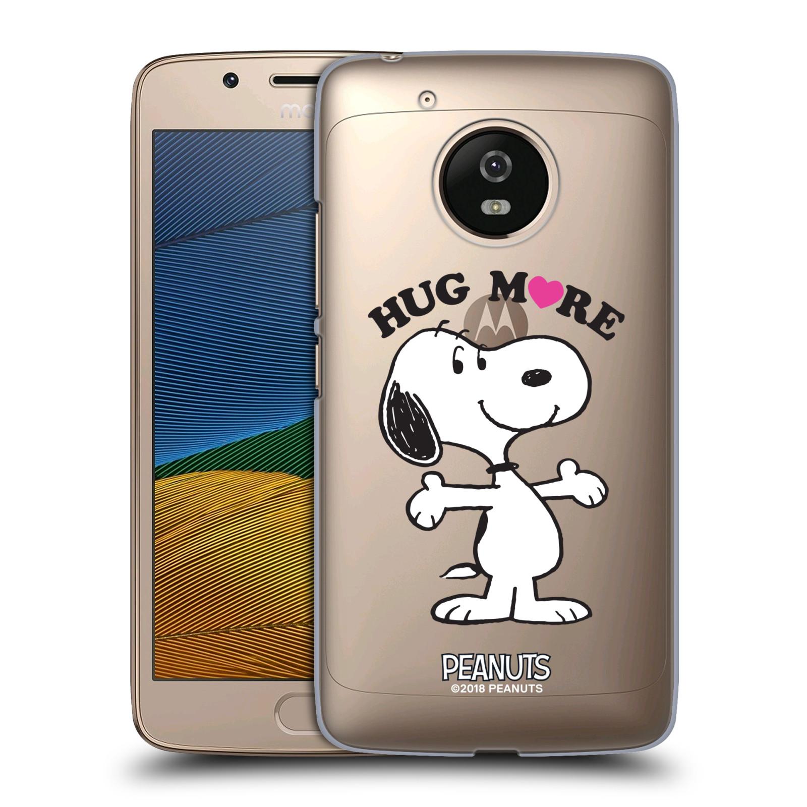 Pouzdro na mobil Lenovo Moto G5 Oficiální motiv Peanuts pejsek Snoopy srdíčko