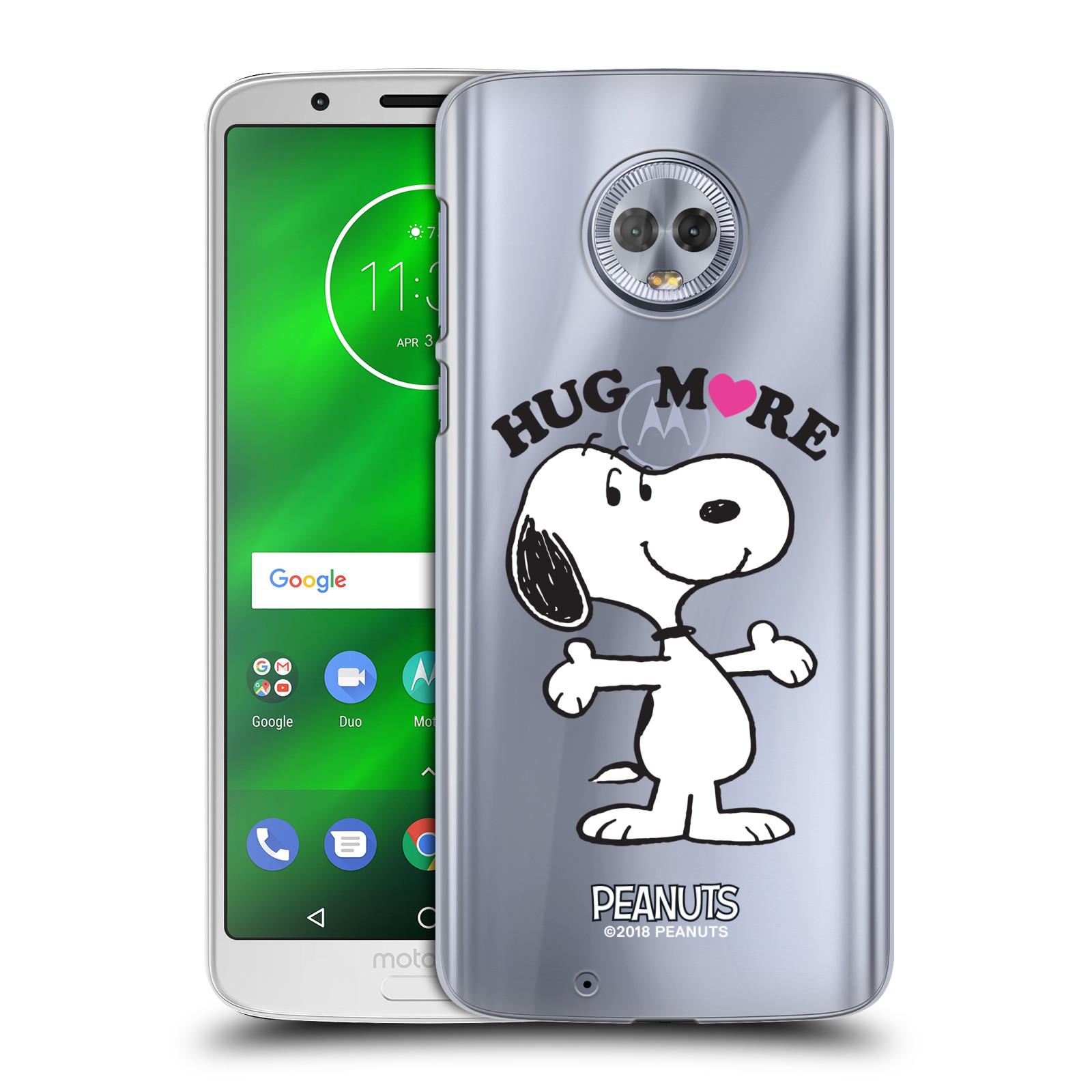 Pouzdro na mobil Motorola Moto G6 Oficiální motiv Peanuts pejsek Snoopy srdíčko