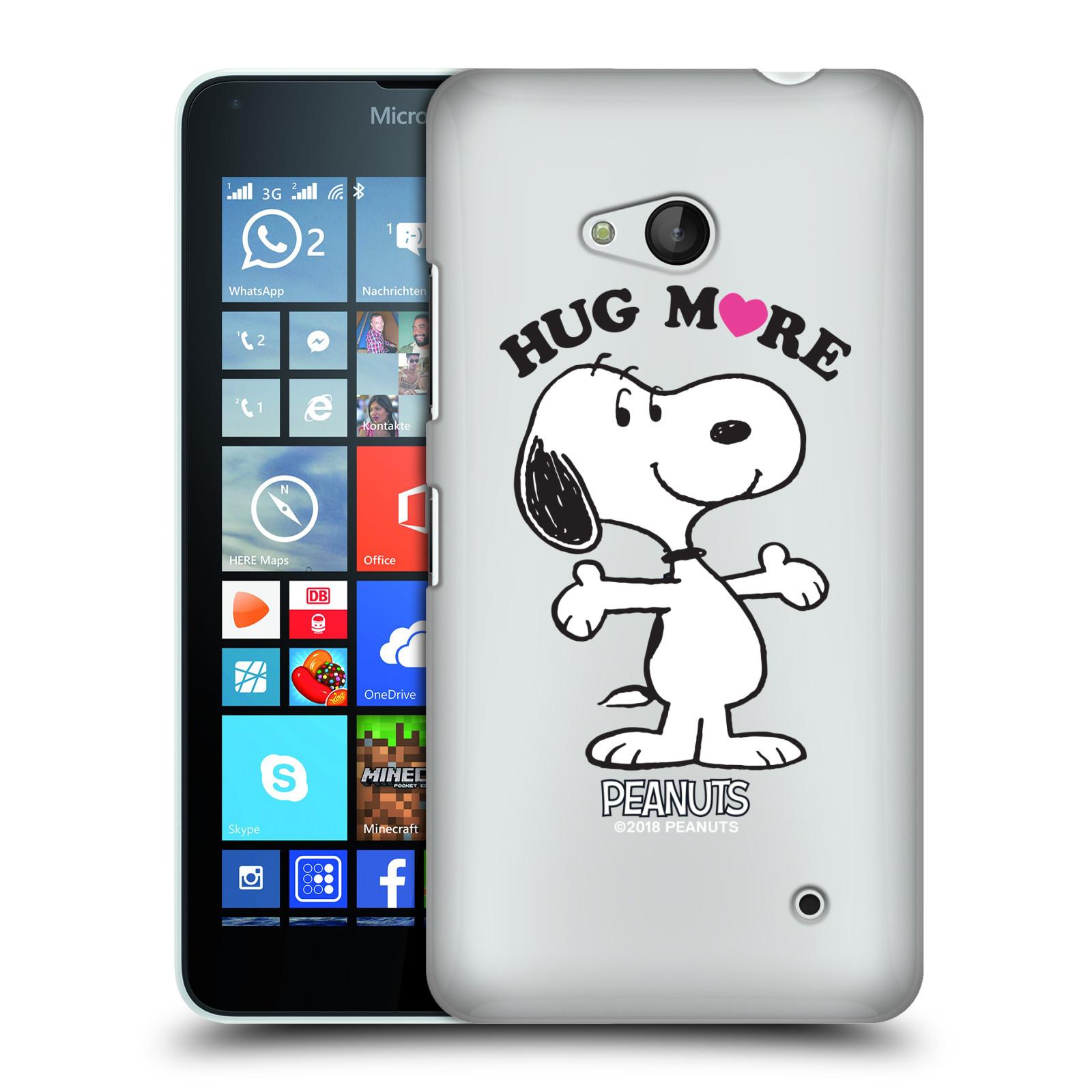 Pouzdro na mobil Microsoft Lumia 640 / 640 DUAL SIM Oficiální motiv Peanuts pejsek Snoopy srdíčko